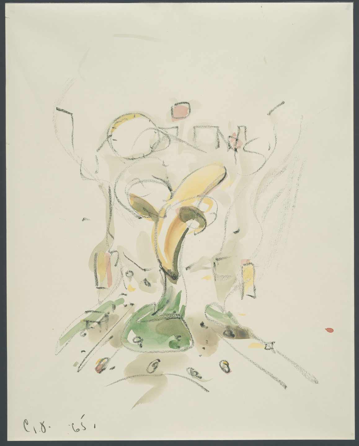 Claes Oldenburg. Proposed Colossal Monument for 42nd Street: Banana. 1965