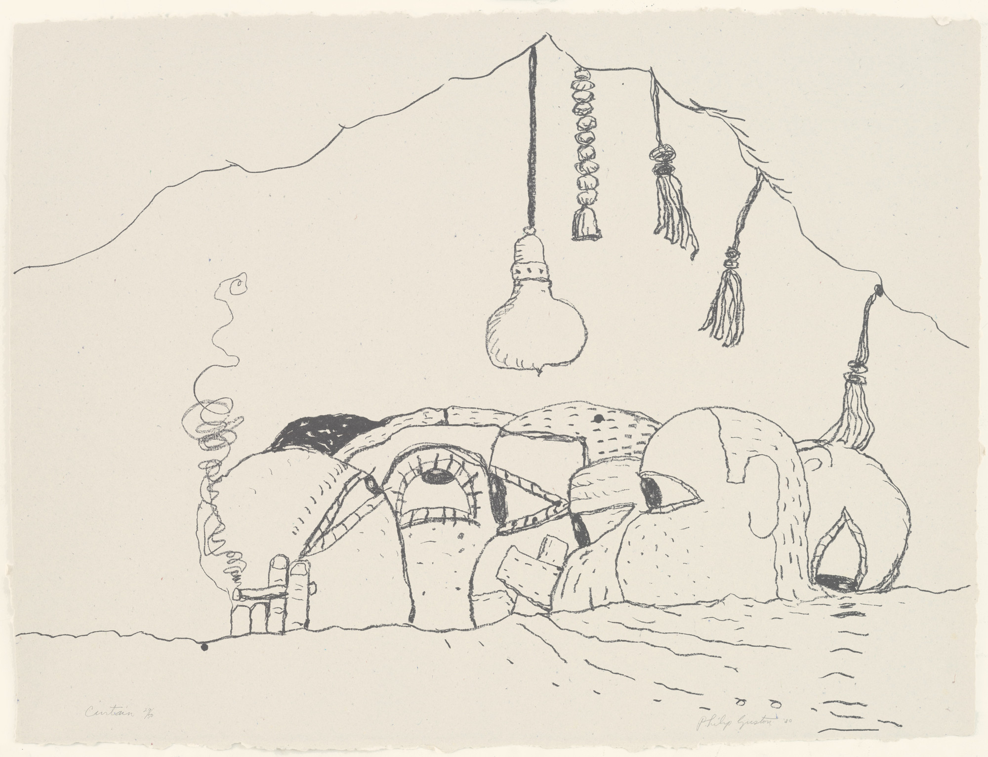 Philip Guston. Curtain. 1980, published 1981