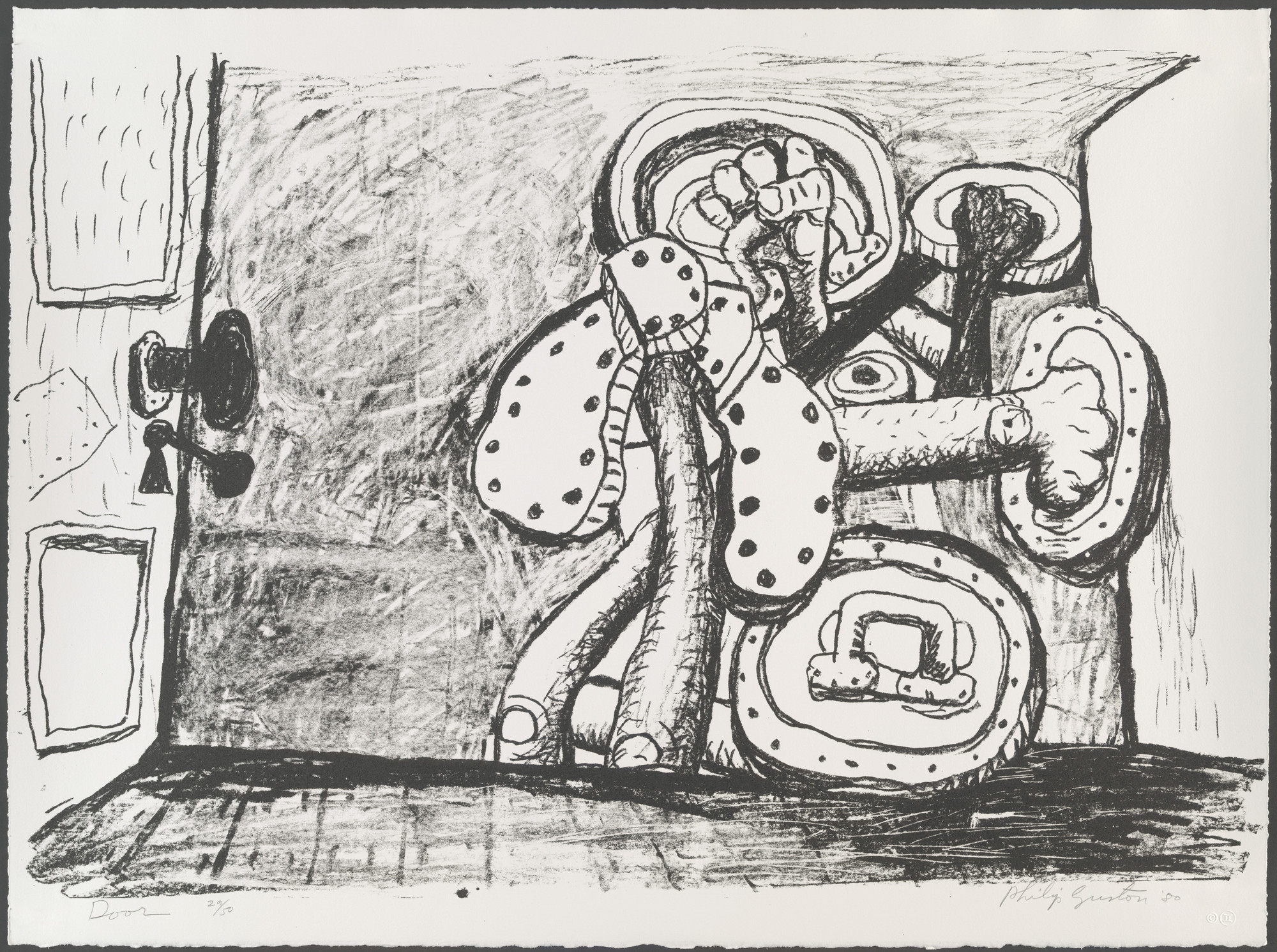 Philip Guston. Door. 1980, published 1981