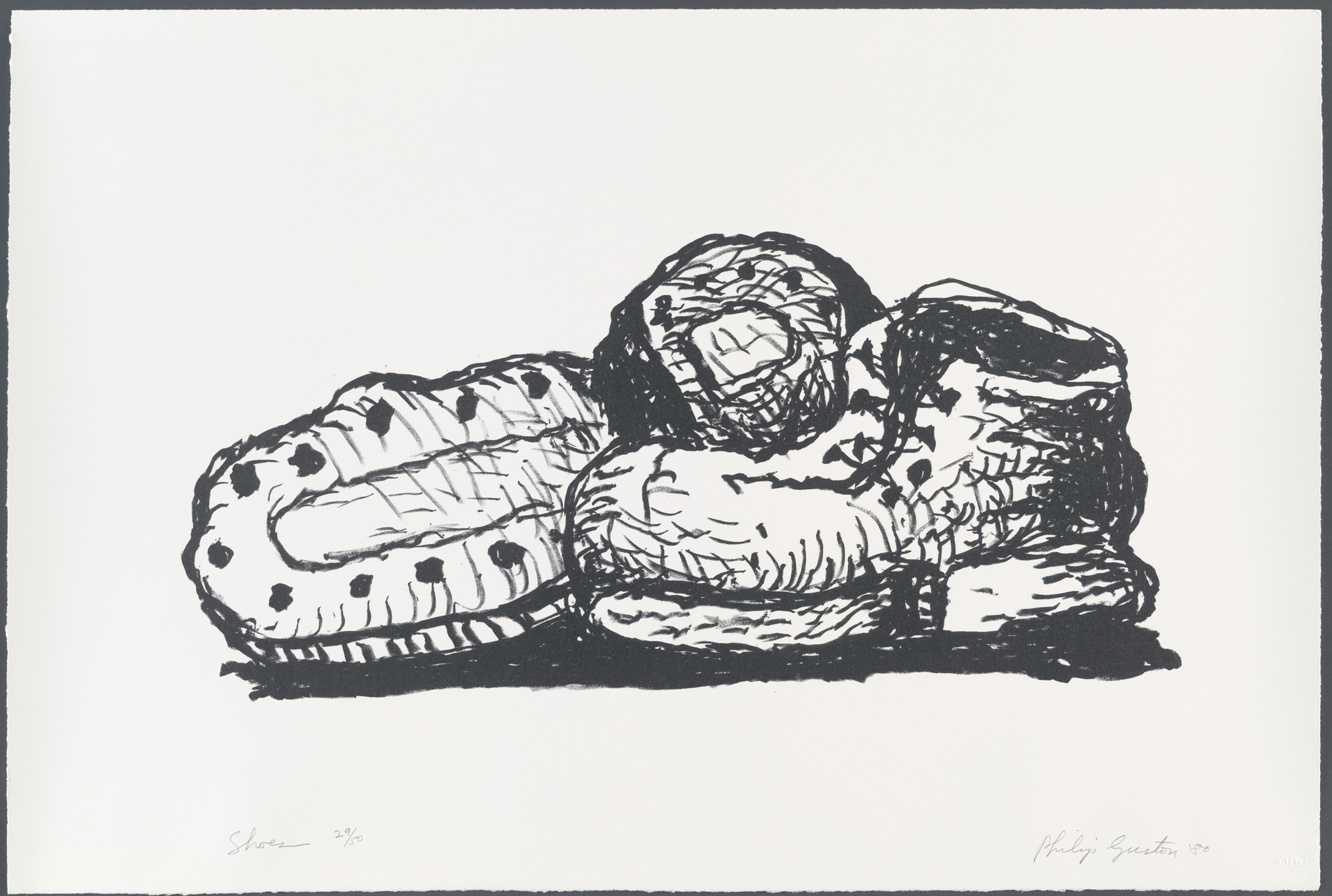Philip Guston. Shoes. 1980, published 1981