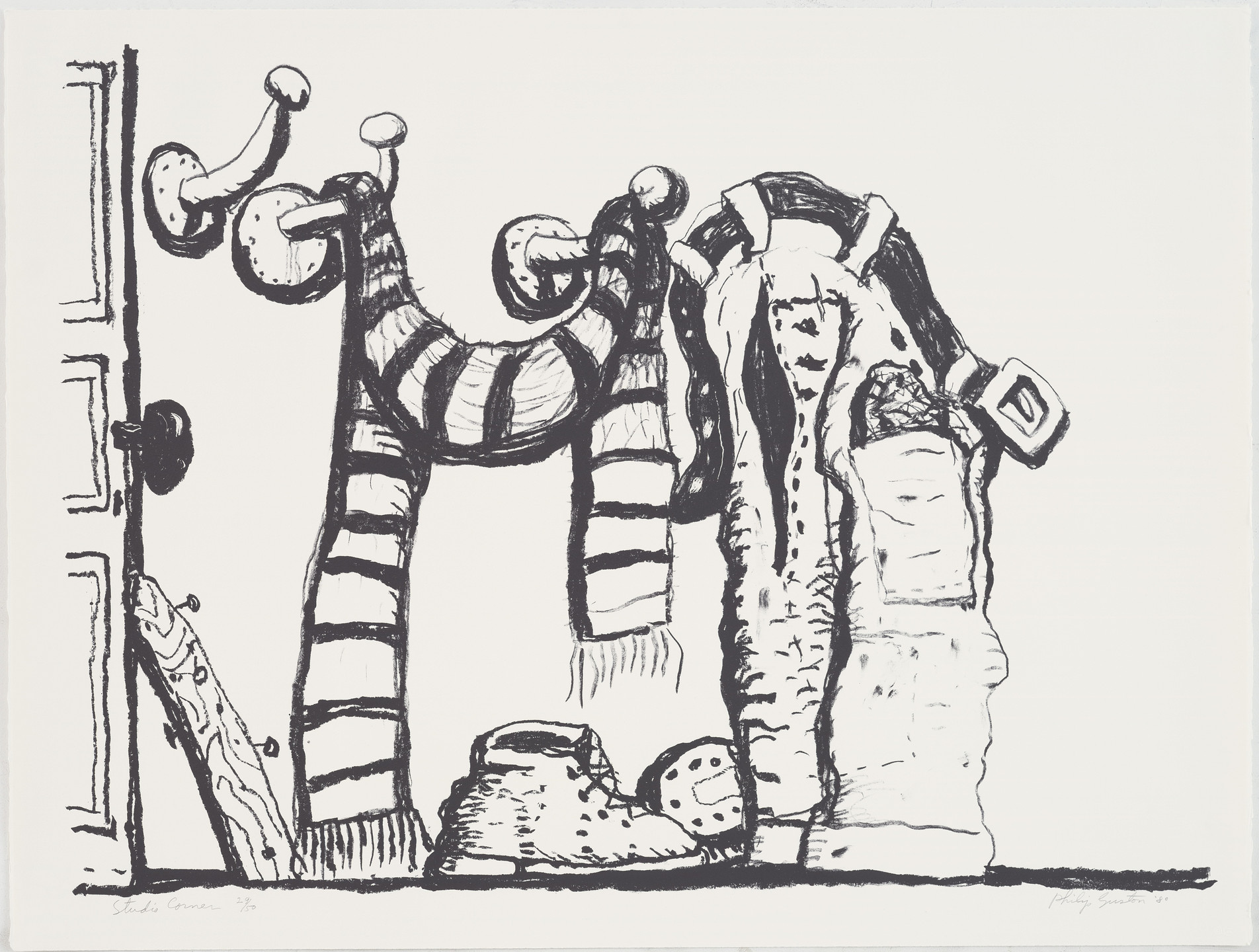 Philip Guston. Studio Corner. 1980, published 1981