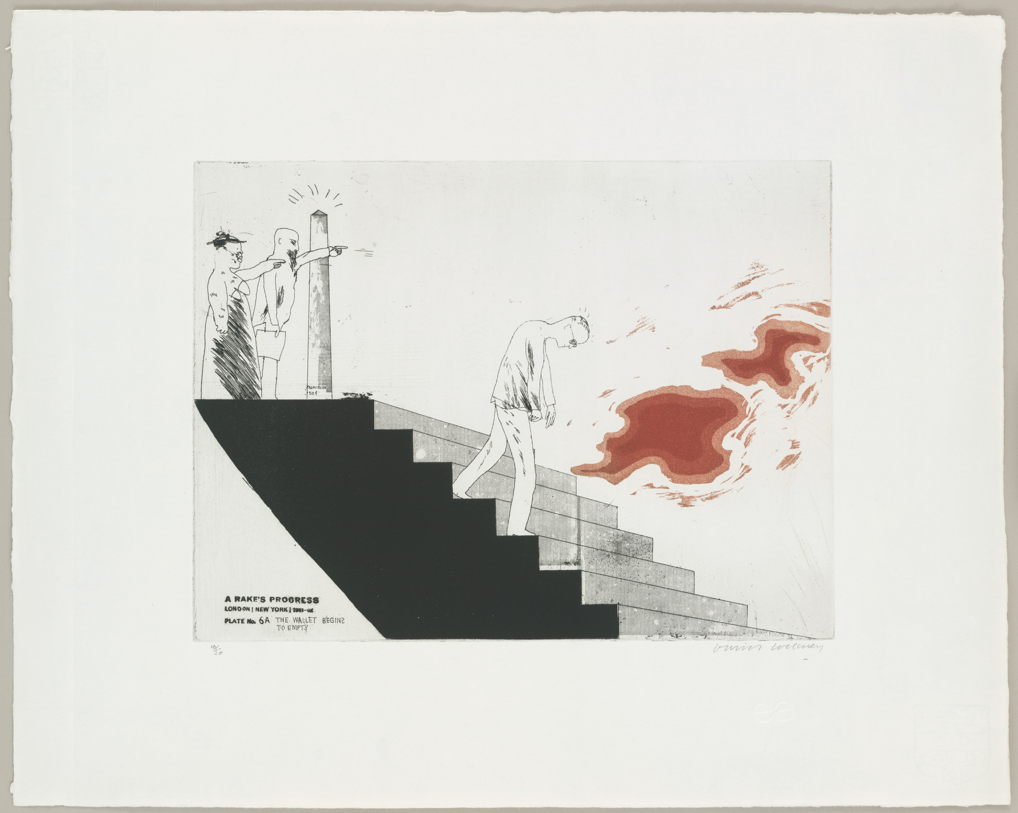 David Hockney. The Wallet Begins to Empty (plate 6a) from A Rake's Progress. 1961–62, published 1963