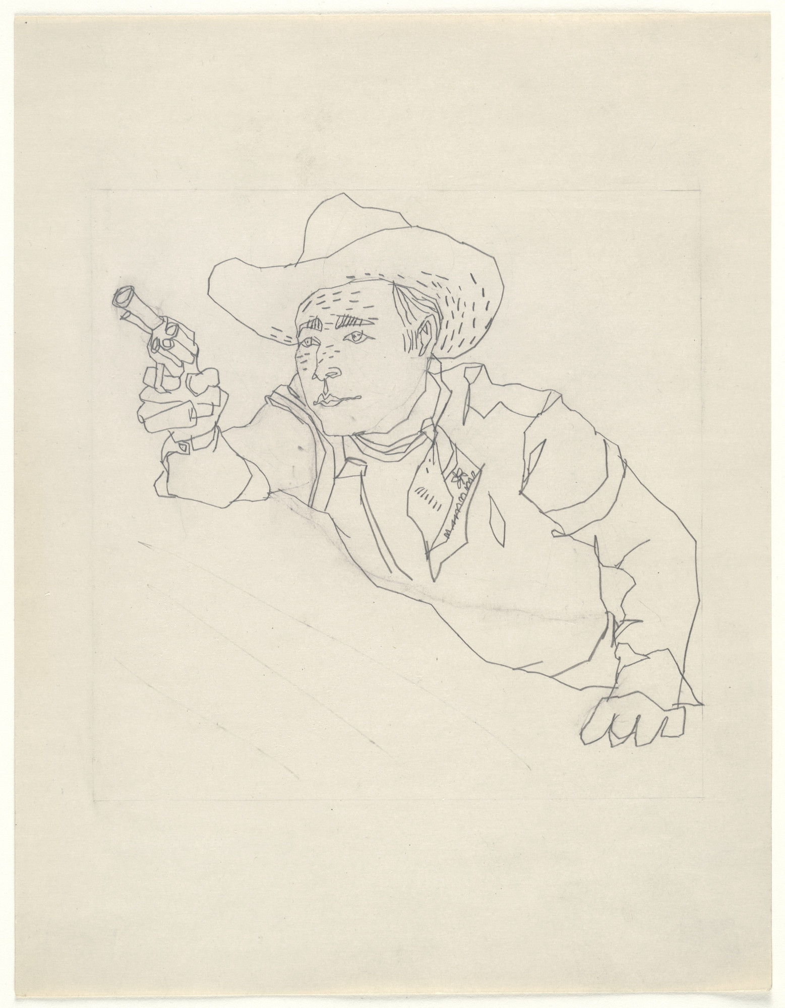 Andy Warhol. Untitled (Roy Rogers). (c. 1948)