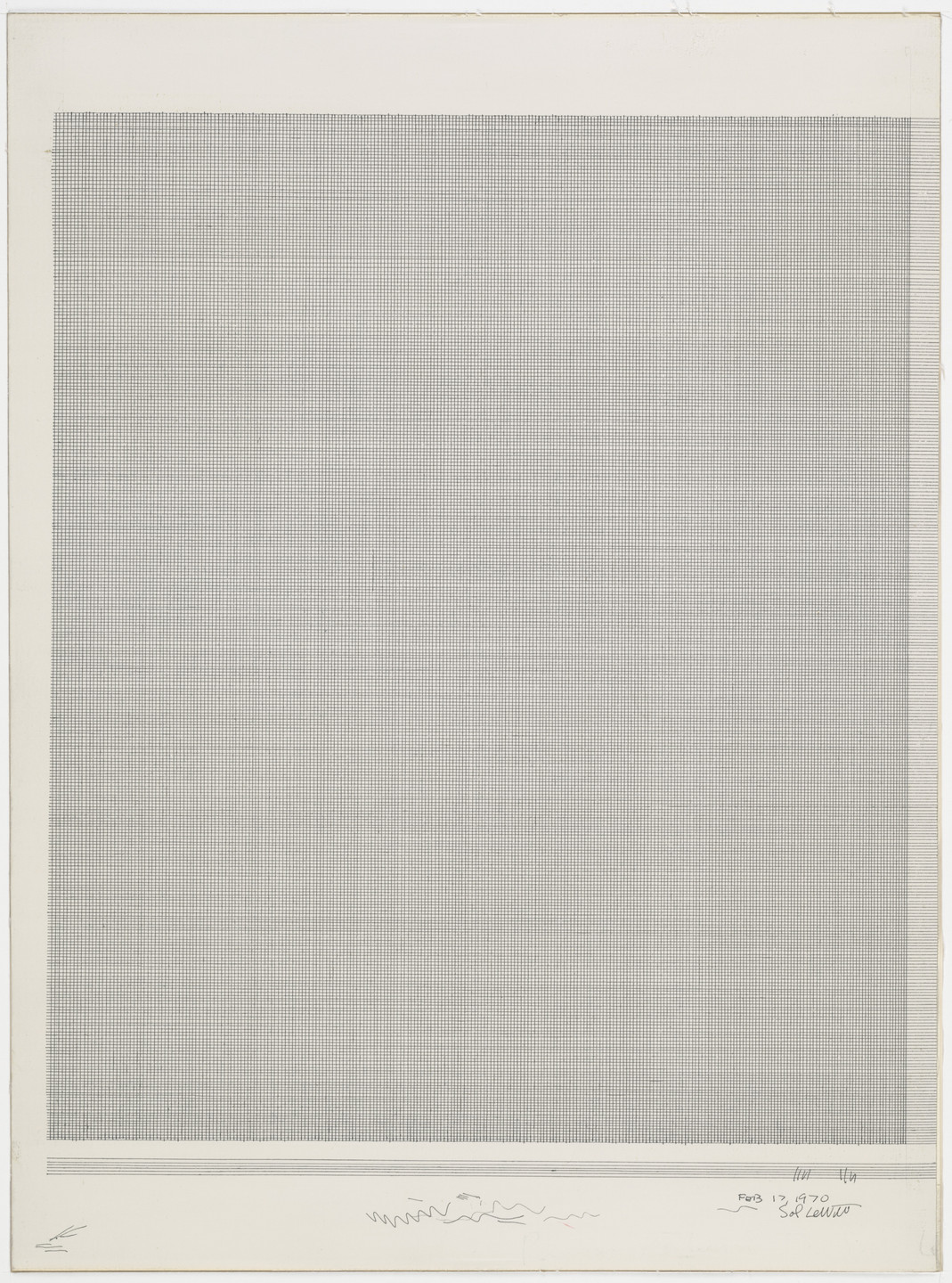 Sol LeWitt. Vertical and Horizontal Lines. 1970