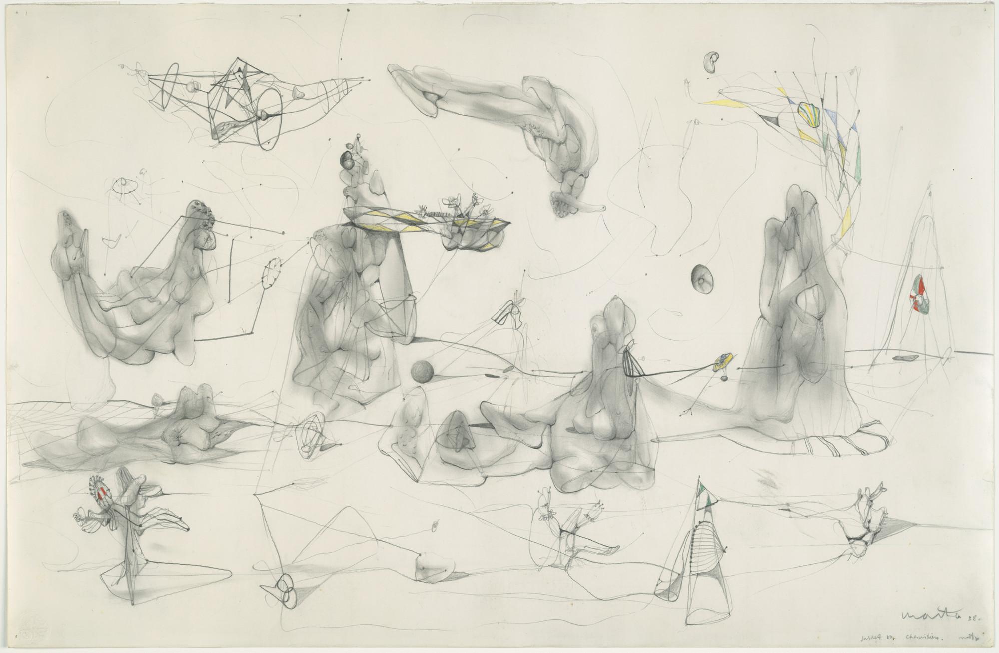 Roberto Matta Endless Nude 1938 Not On View