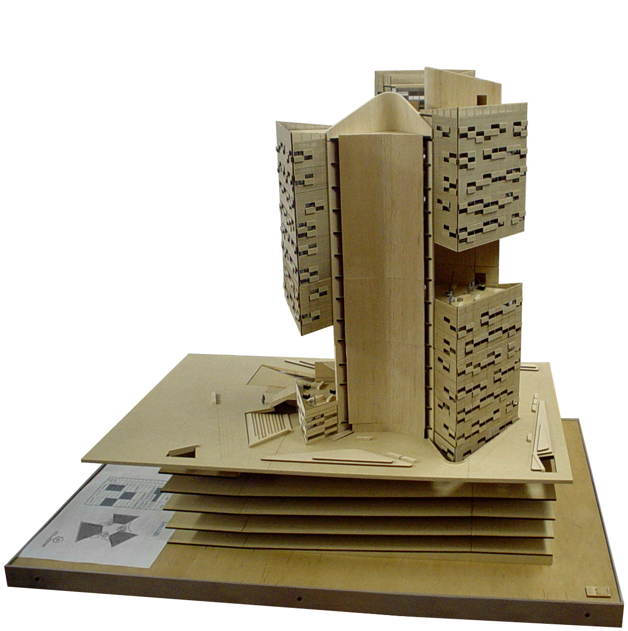 Carme Pinos. Cube Tower, Guadalajara, Mexico, Scale model 1:100. 2002-2005