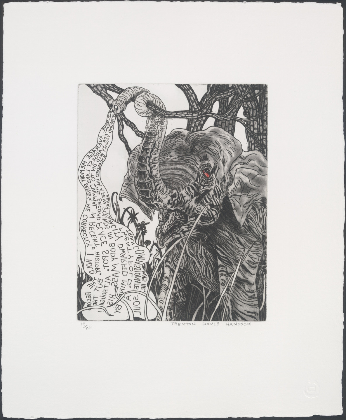 Trenton Doyle Hancock. Untitled from Bye and Bye (Nine Sad Etchings). 2002
