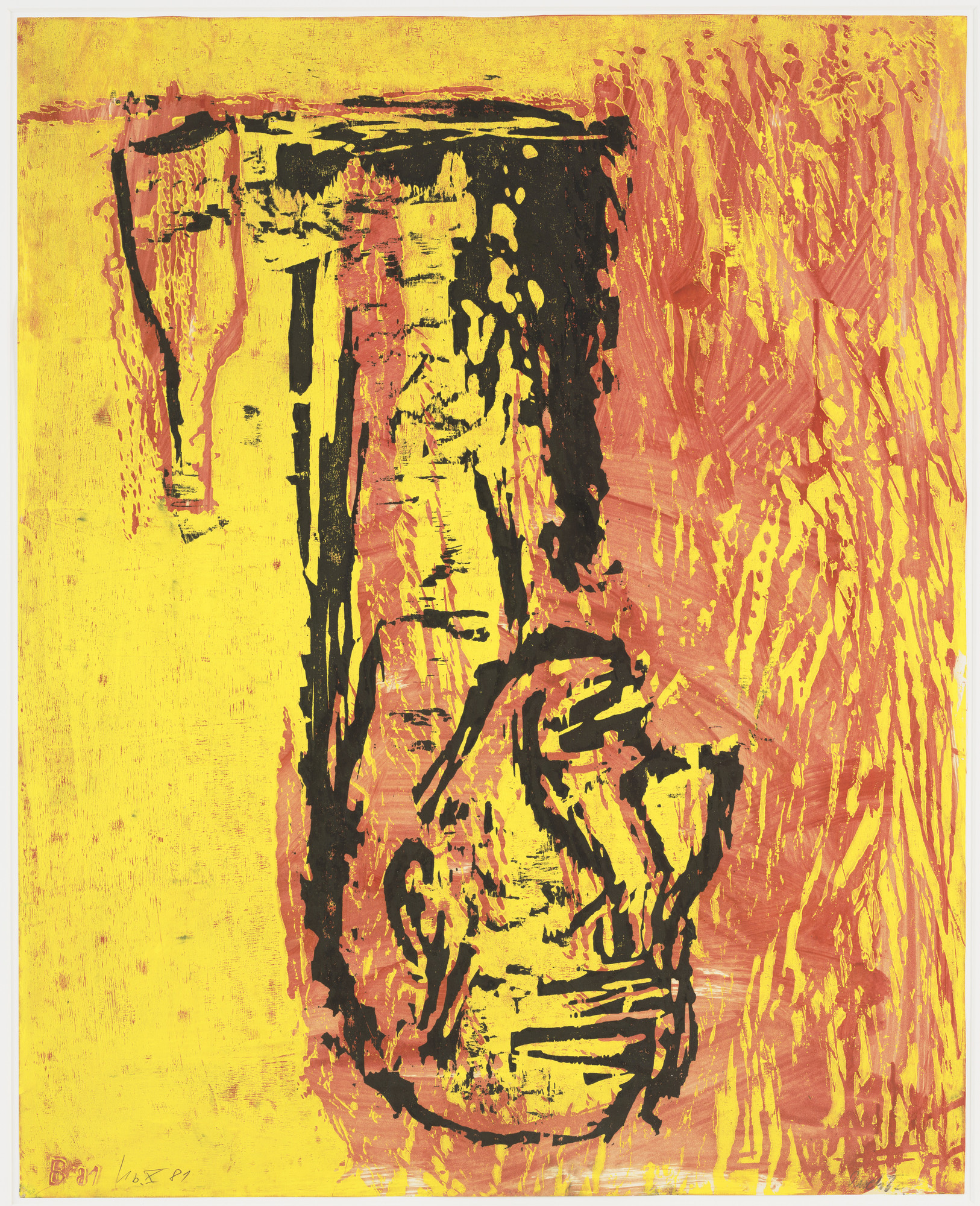 Georg Baselitz. Head and Bottle (Kopf und Flasche). (1981-82)