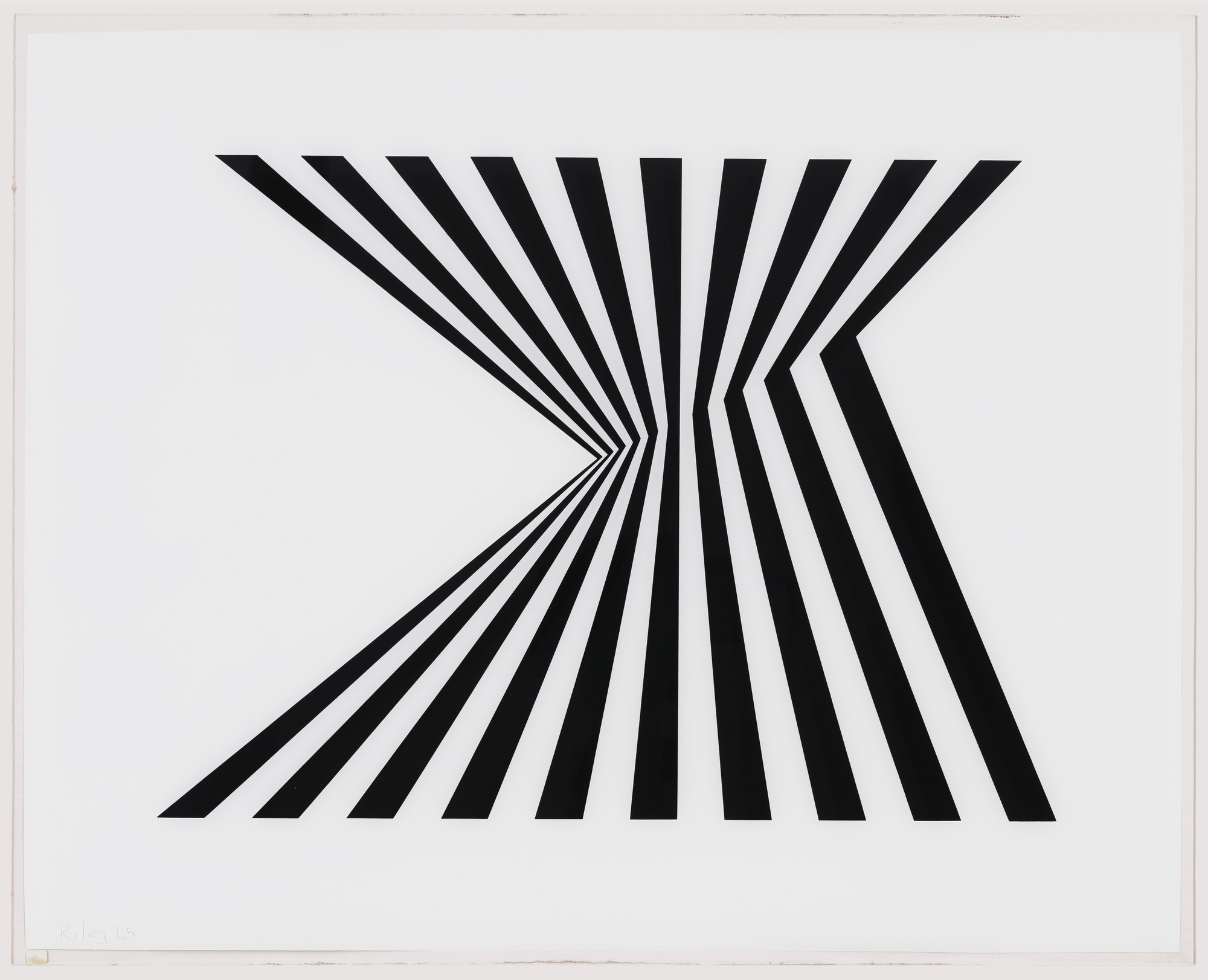 Bridget Riley. Untitled (Fragment 1) from Fragments. 1965