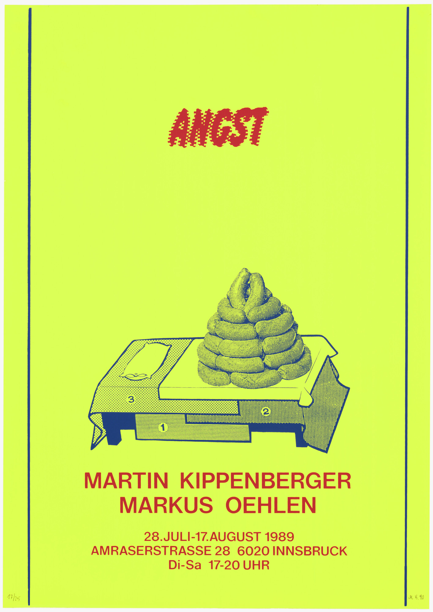 Martin Kippenberger. Angst from Courage to Print (Mut zum Druck). 1990