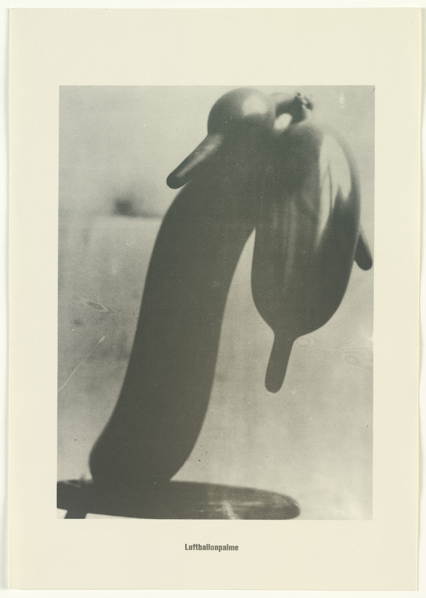 Sigmar Polke, Christof  Kohlhöfer. Balloon Palm Tree (Luftbalonpalme) from the Palm Tree Series (Palmenserie) from .....Higher Beings Ordain (.....Höhere Wesen befehlen). 1966, published 1968
