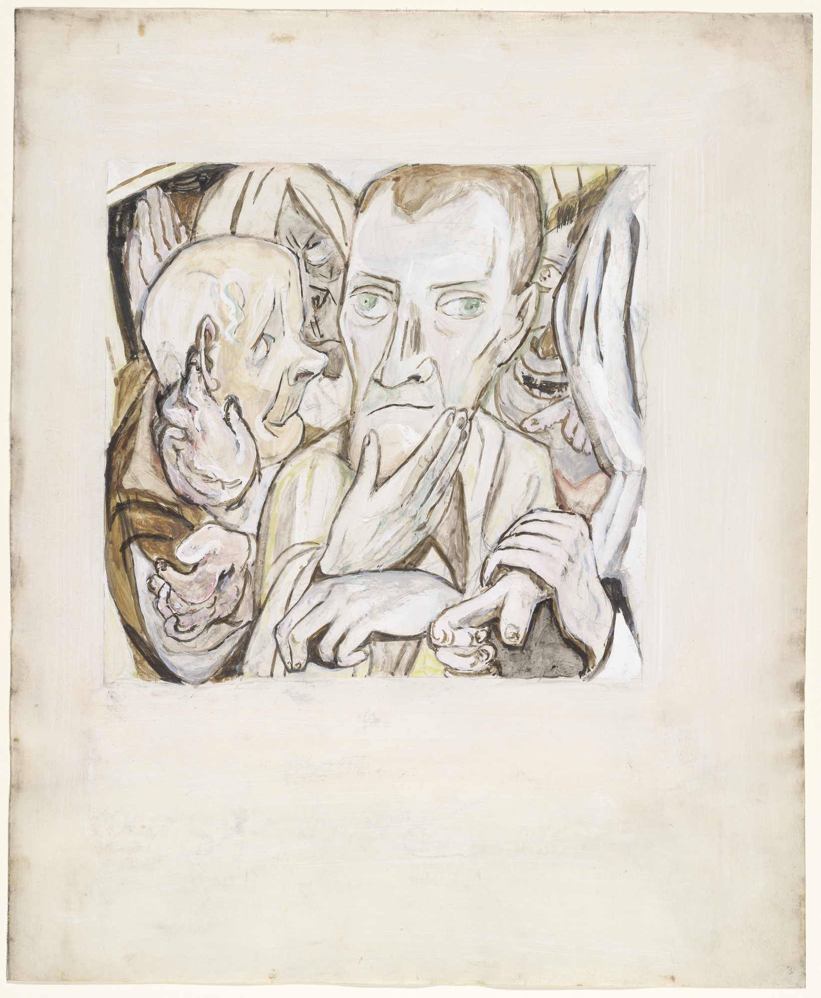 Max Beckmann. The Mocking of the Prodigal Son (Der Verlorene Sohn wird verspottet). (c. 1918)