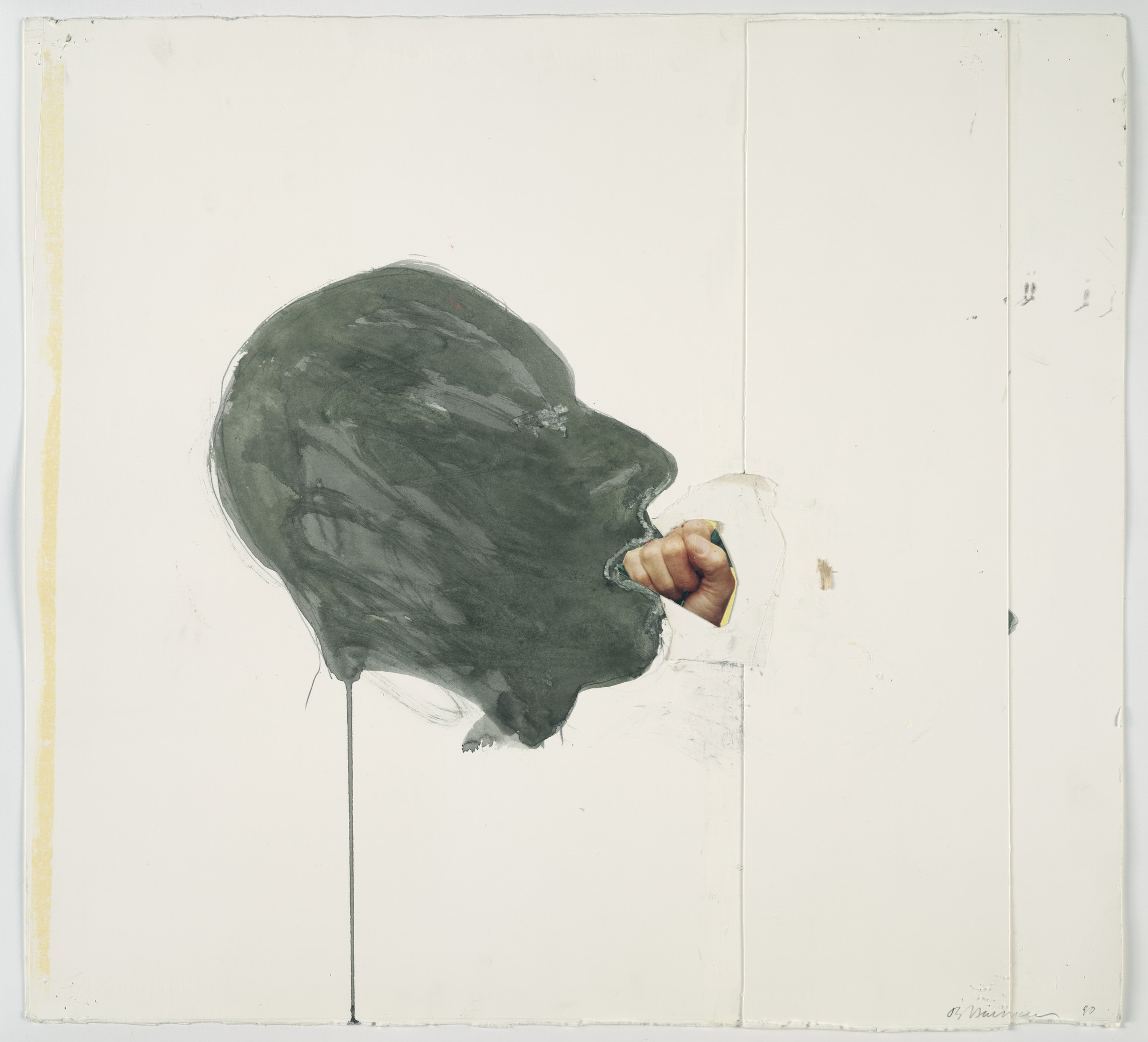 Bruce Nauman. Fist in Mouth. 1990