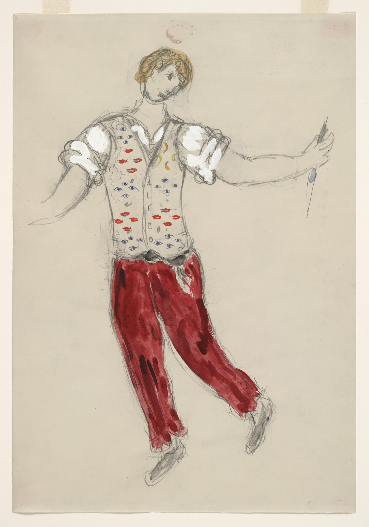 Marc Chagall. Aleko. Costume design for the ballet Aleko. (1942) | MoMA