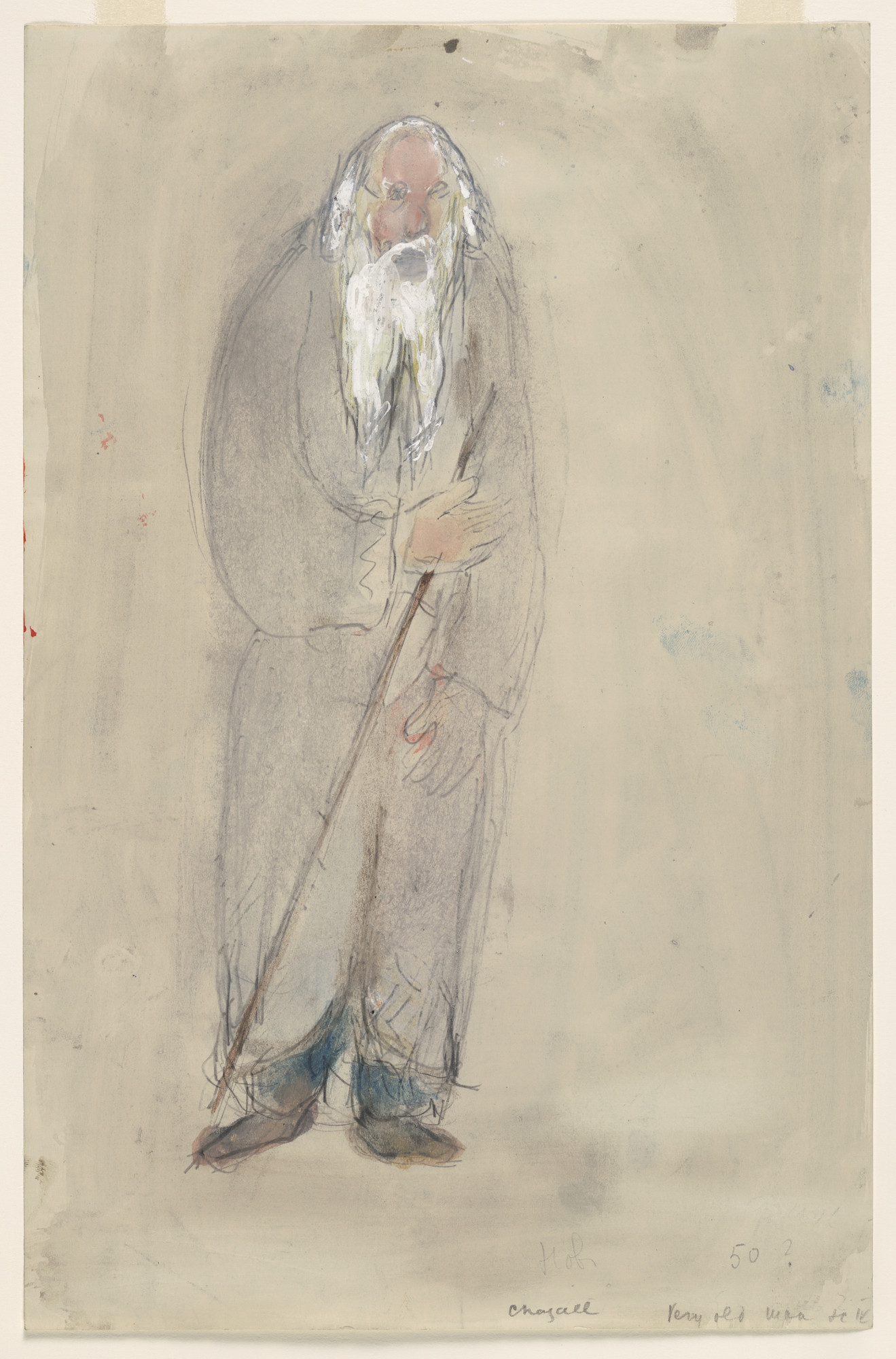 Marc Chagall. A Very Old Man, costume design for Aleko (Scene IV). (1942)