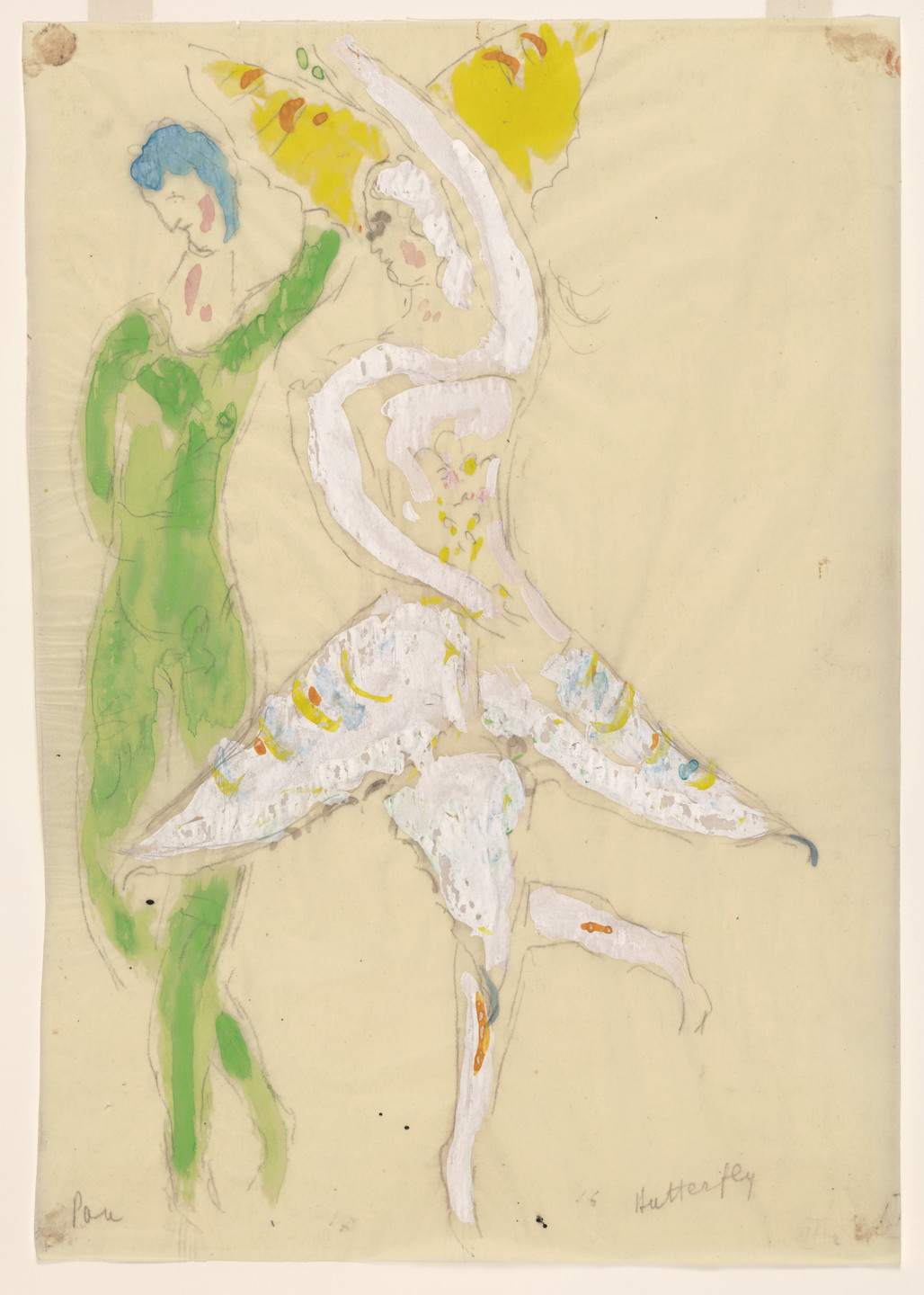 Marc Chagall. Butterfly. Costume design for Scene IV of the ballet Aleko. 1942