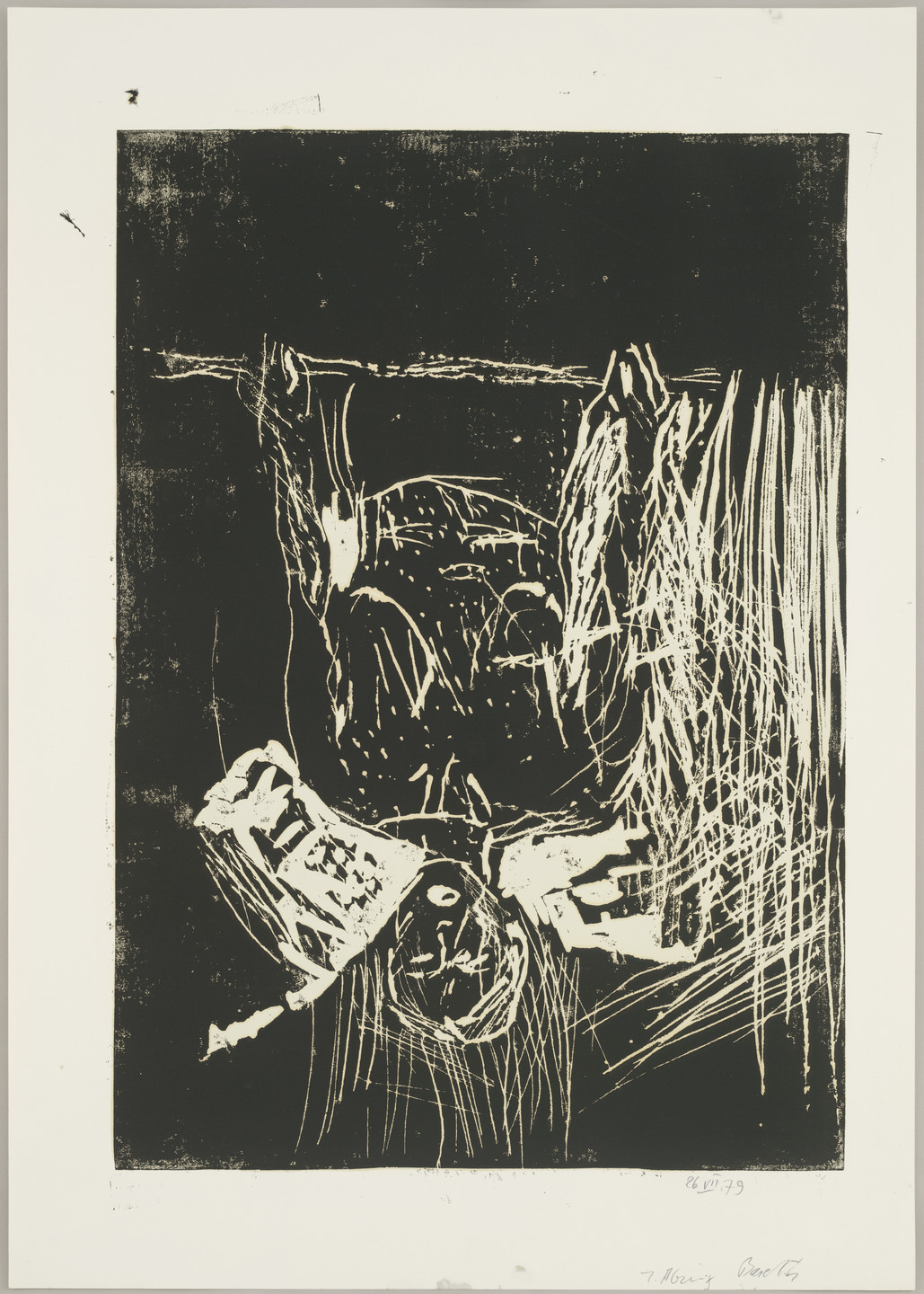Georg Baselitz. Woman at the Window (Frau am Fenster), state I. 1979