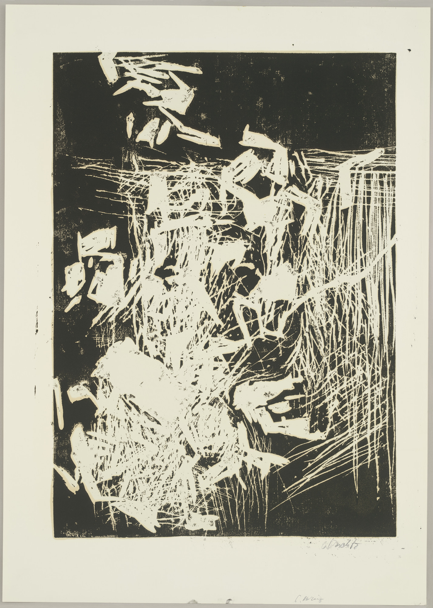 Georg Baselitz. Woman at the Window (Frau am Fenster), state VI. 1979