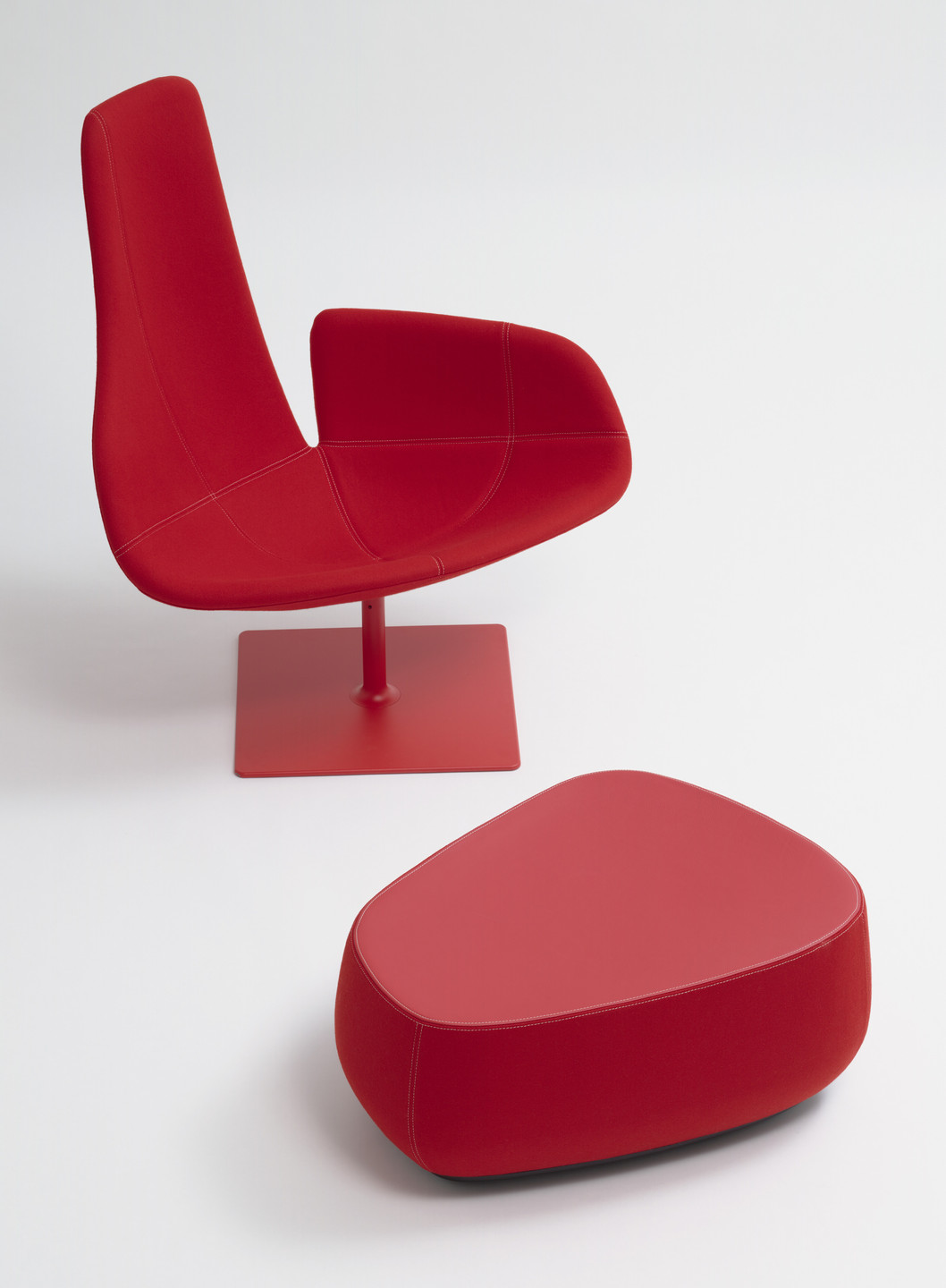 Patricia Urquiola. Fjord Armchair and Foot Stool. 2002