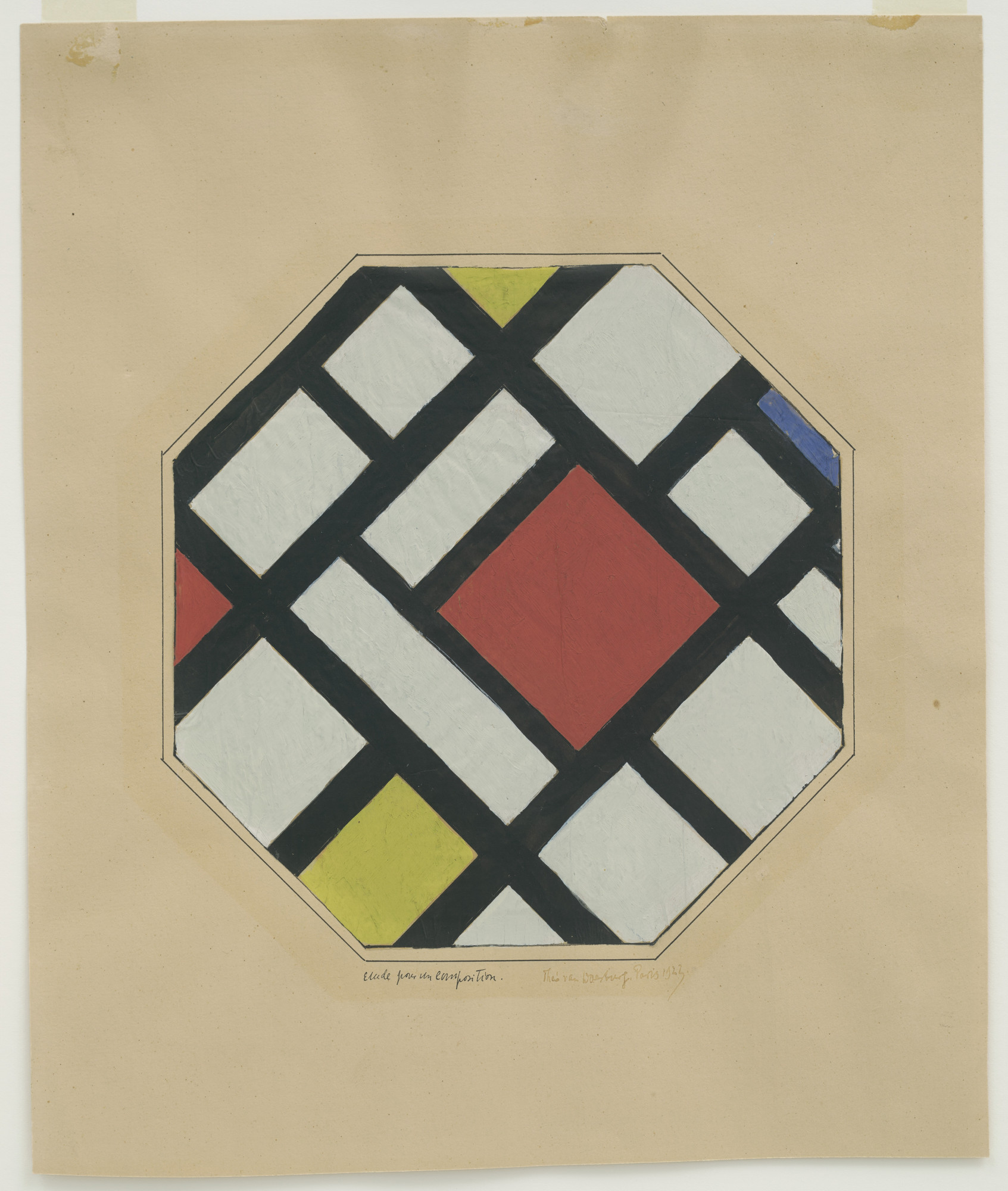 Theo van Doesburg. Study for a Composition. 1923