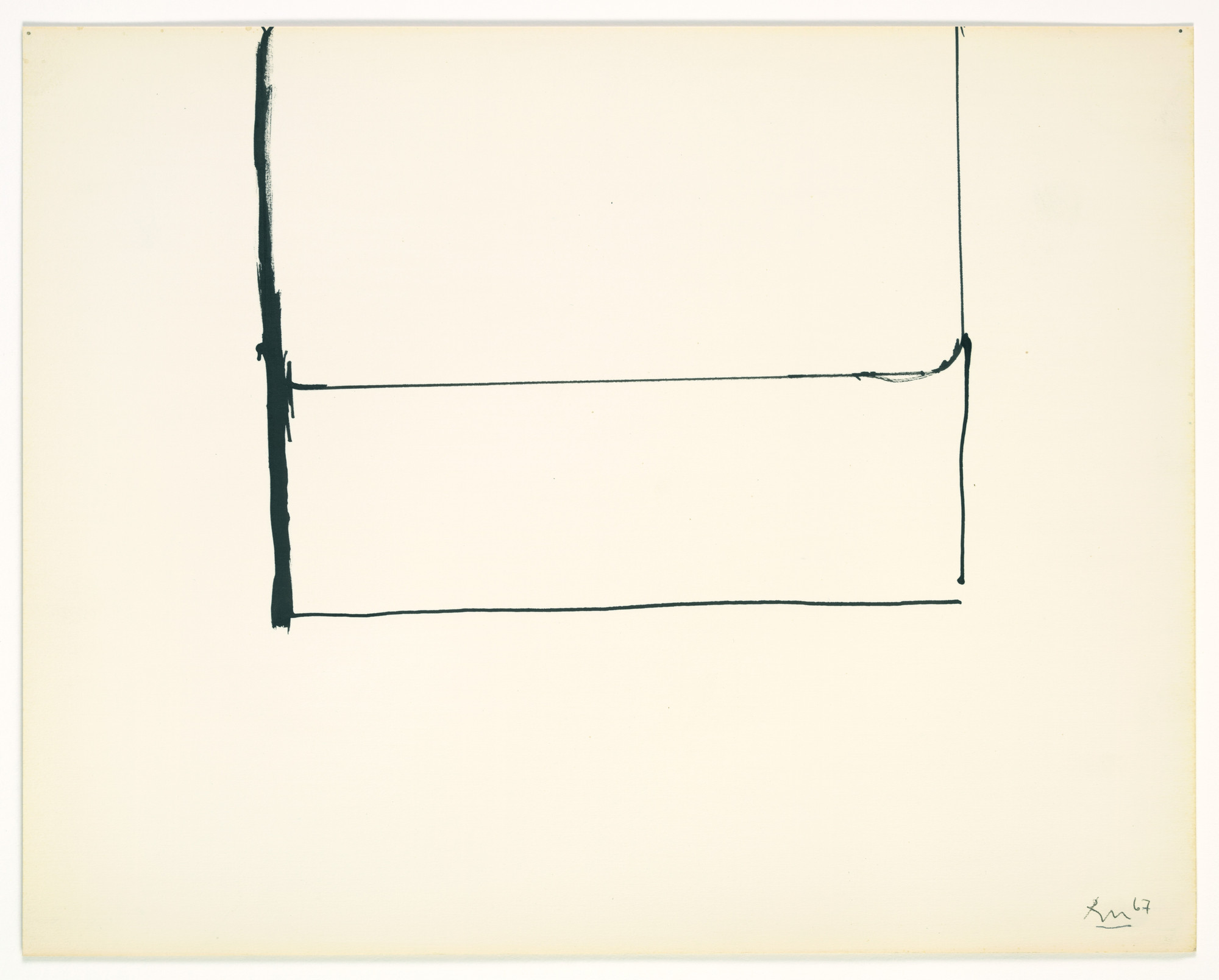 Robert Motherwell. Open Drawing. 1967