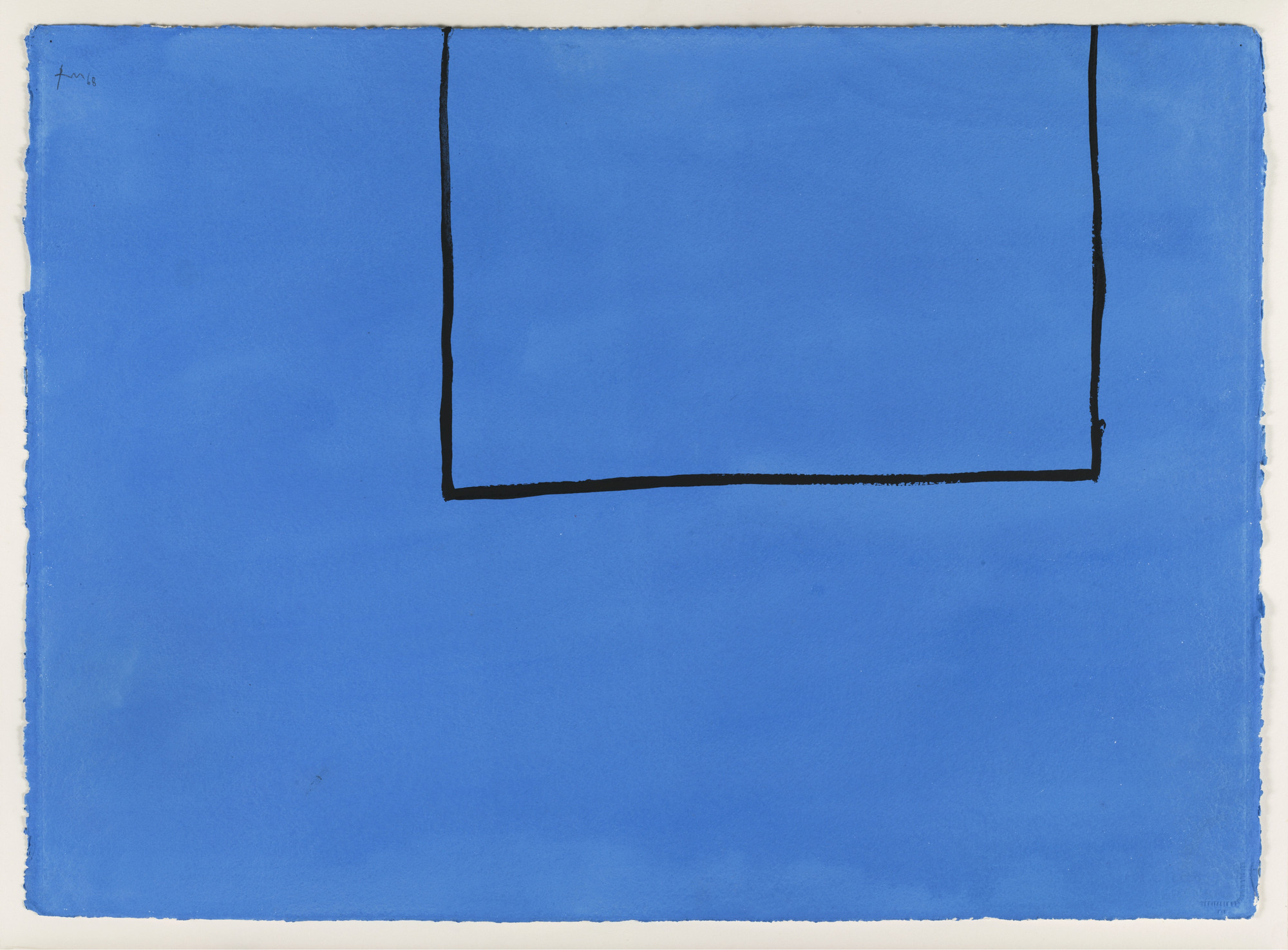 Robert Motherwell. Open Study #8A (In Blue with Black Line). 1968