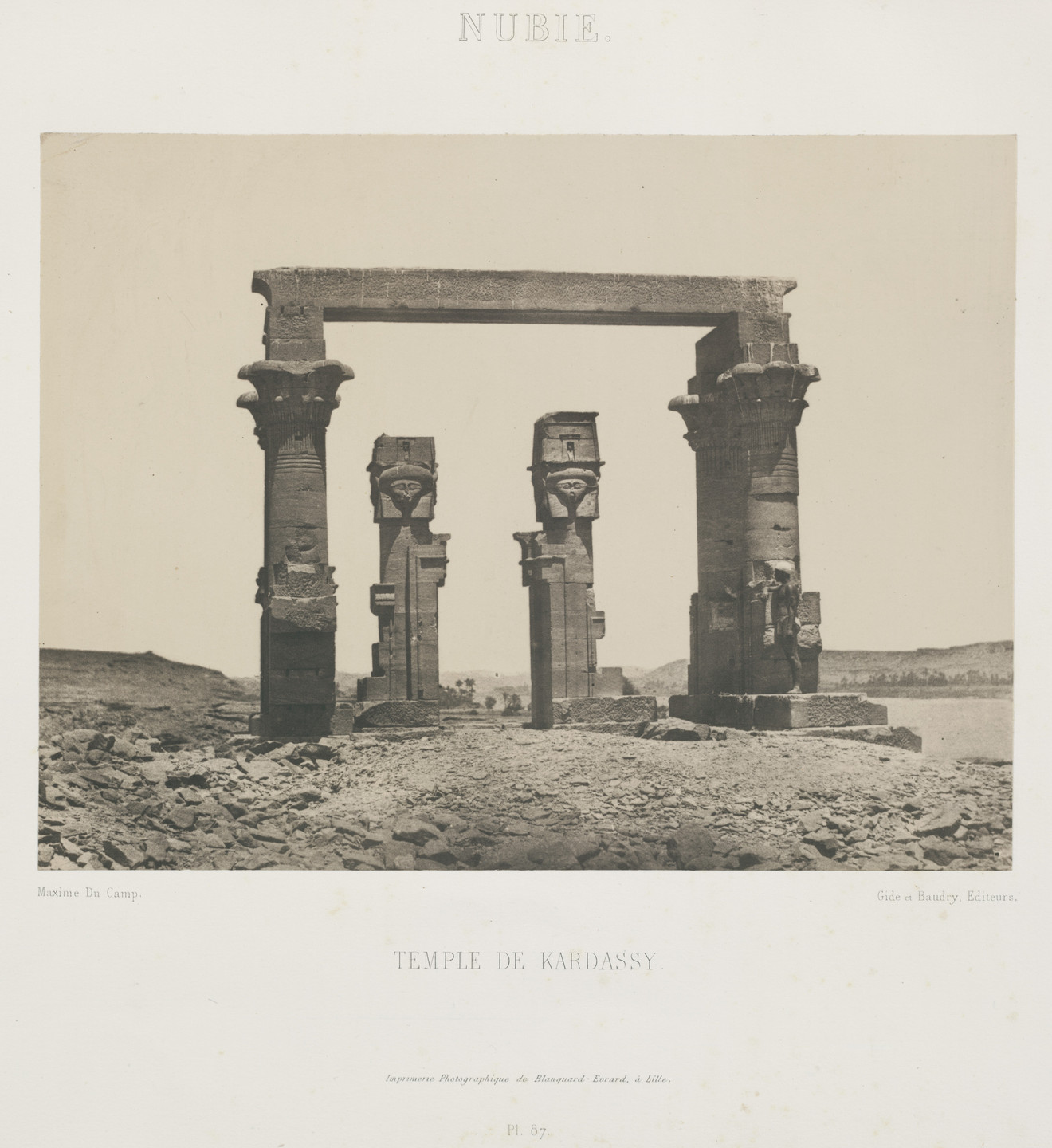 Maxime Du Camp. Temple of Wady Kardassy. 1849-51