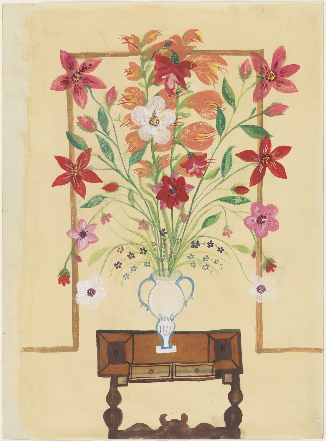 Bertha Trabich. Vase with Flowers. c. 1937–41