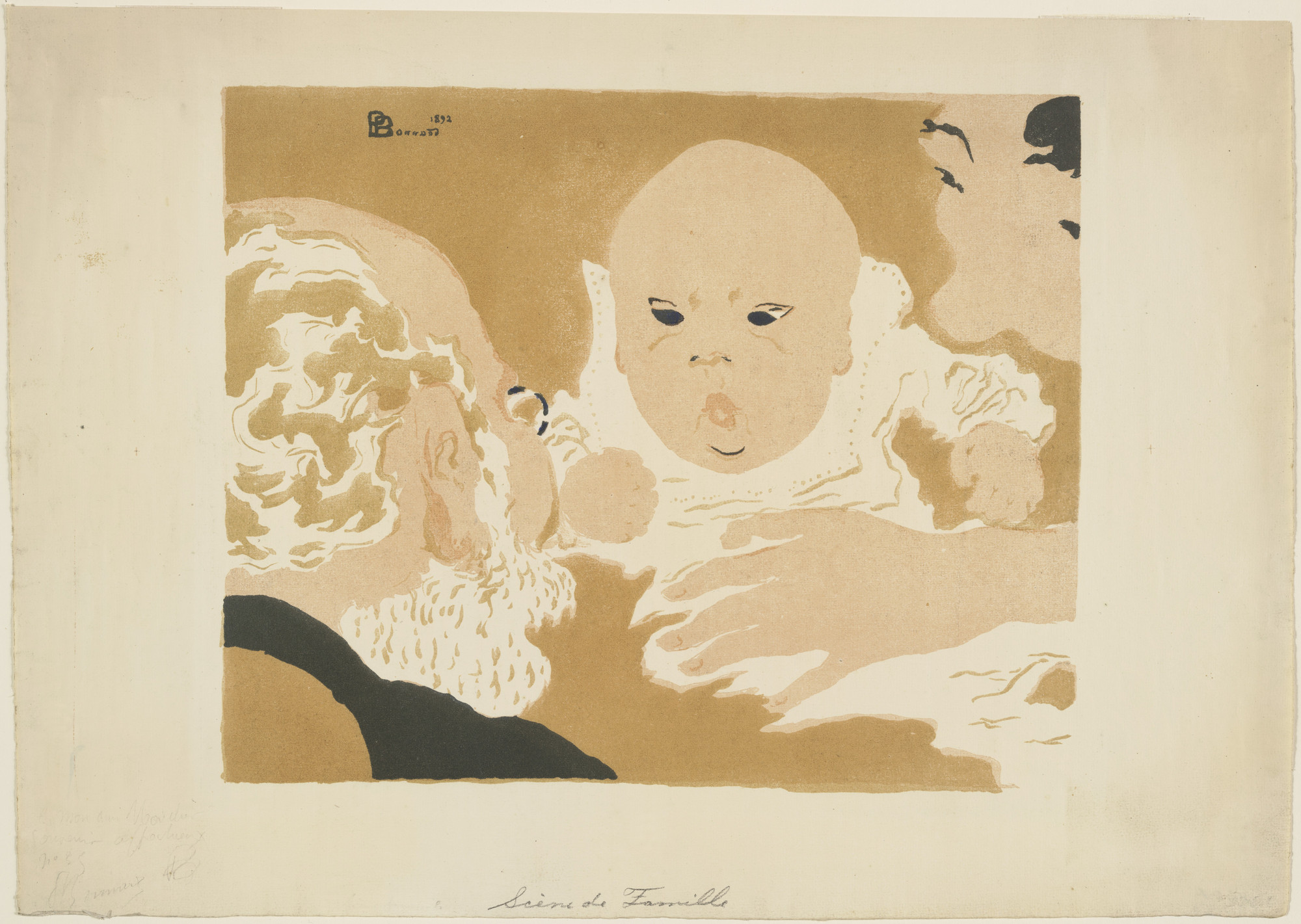 Pierre bonnard family scene scène de famille 1892