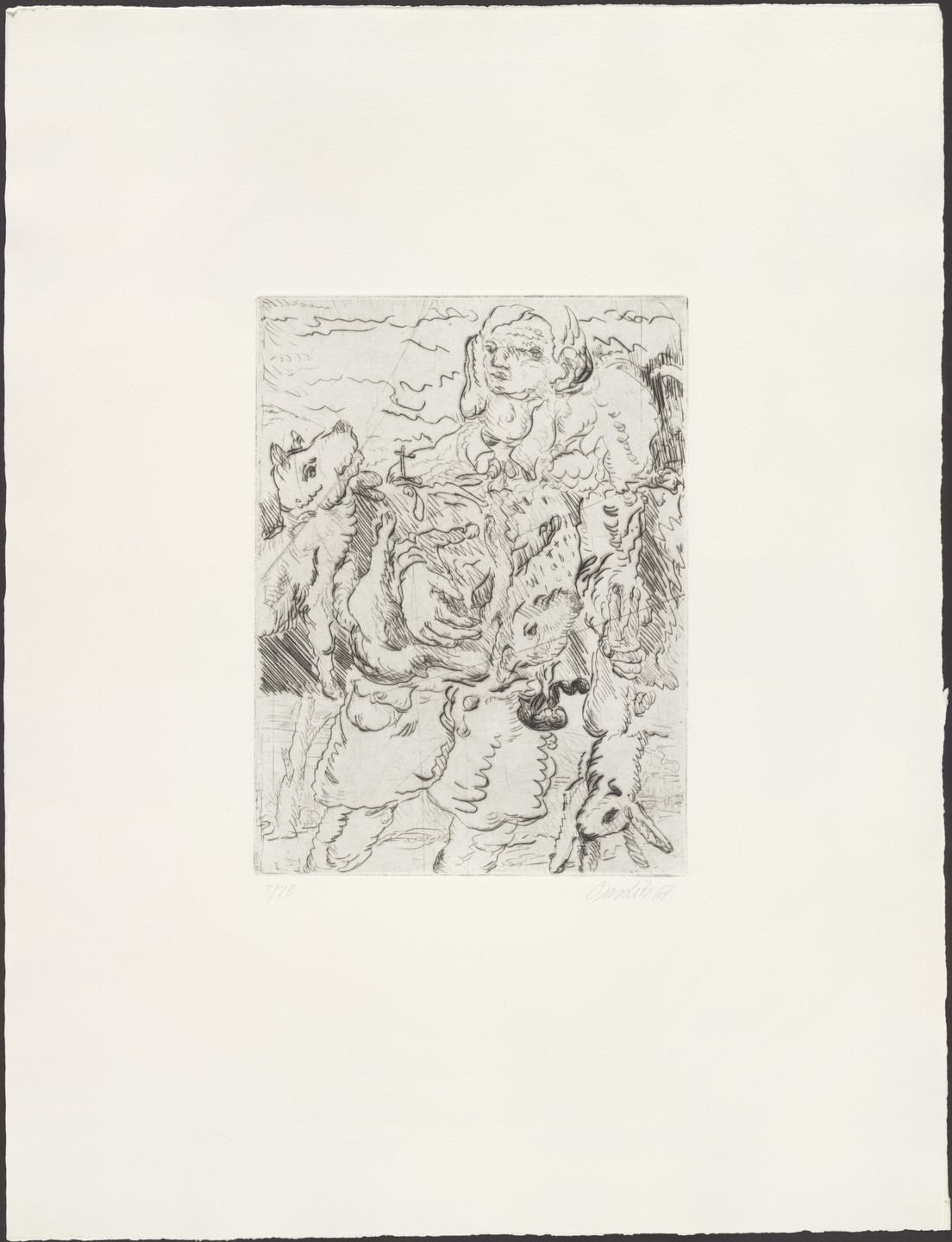 Georg Baselitz. The Hunter (Der Jäger). 1967, published 1974