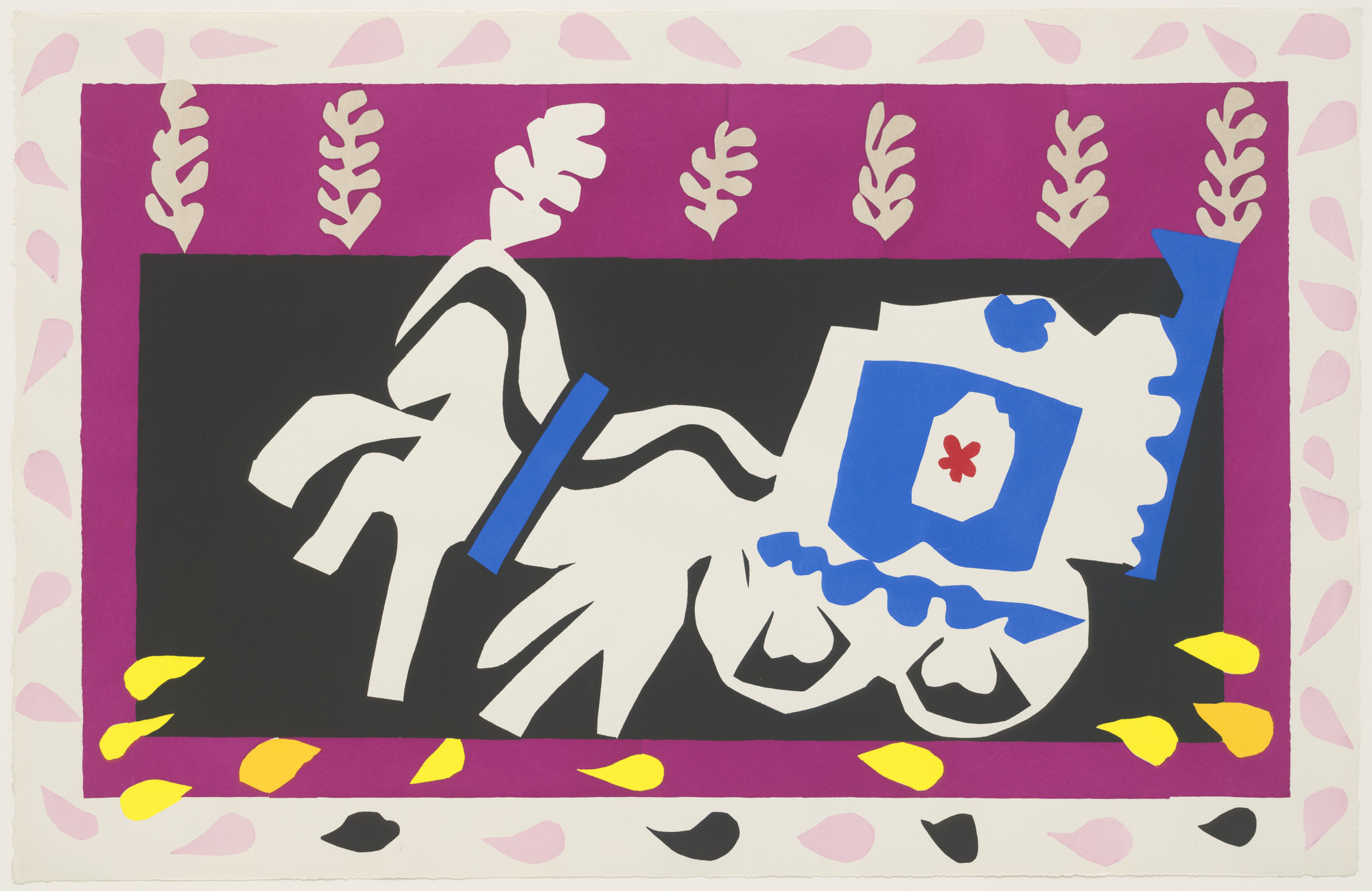 Henri Matisse. Pierrot's Funeral (L'Enterrement de Pierrot) from Jazz. 1947