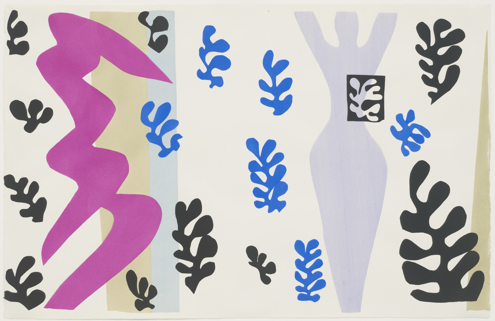 Henri Matisse. The Knife Thrower (Le Lanceur de couteaux) from Jazz. 1947