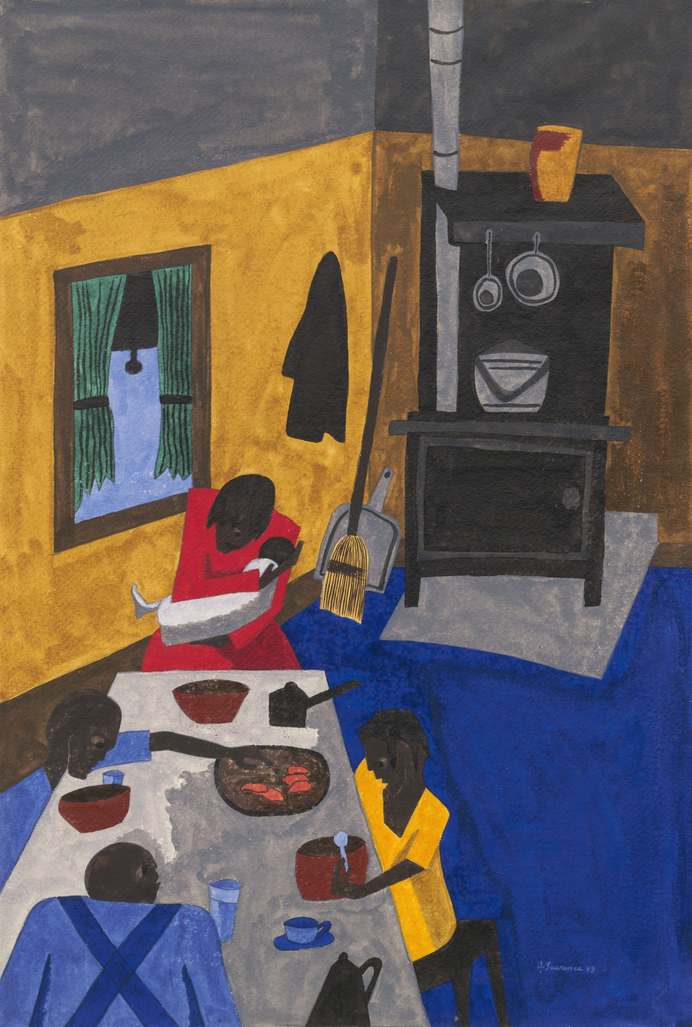 Jacob Lawrence. A Family. 1943