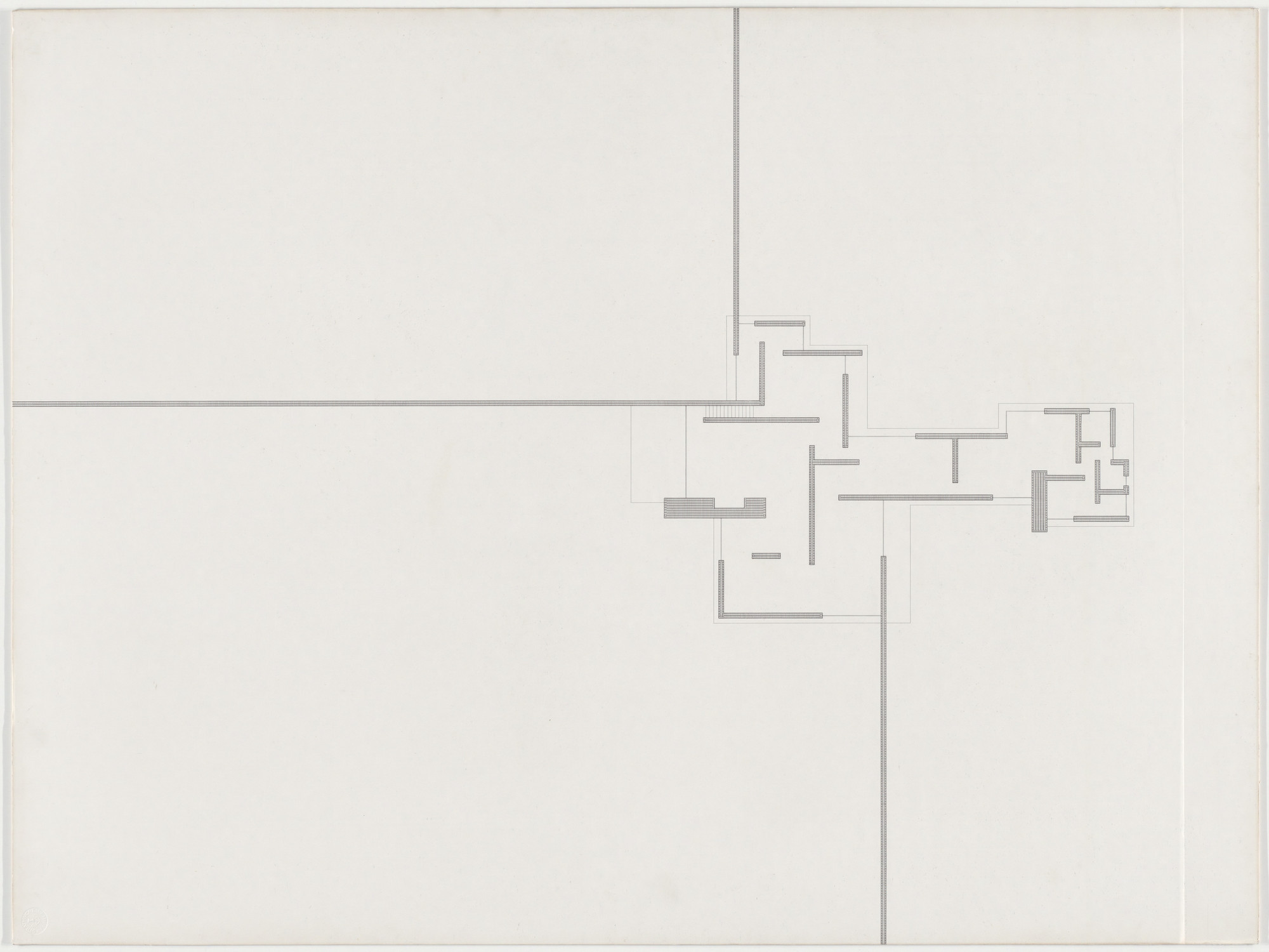 Ludwig Mies van der Rohe. Brick Country House, project, Potsdam ...