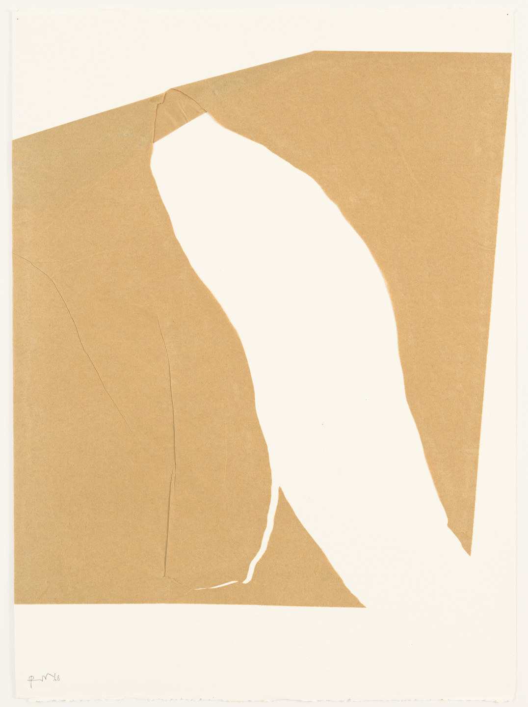 Robert Motherwell. In Beige, with White, 2. 1968