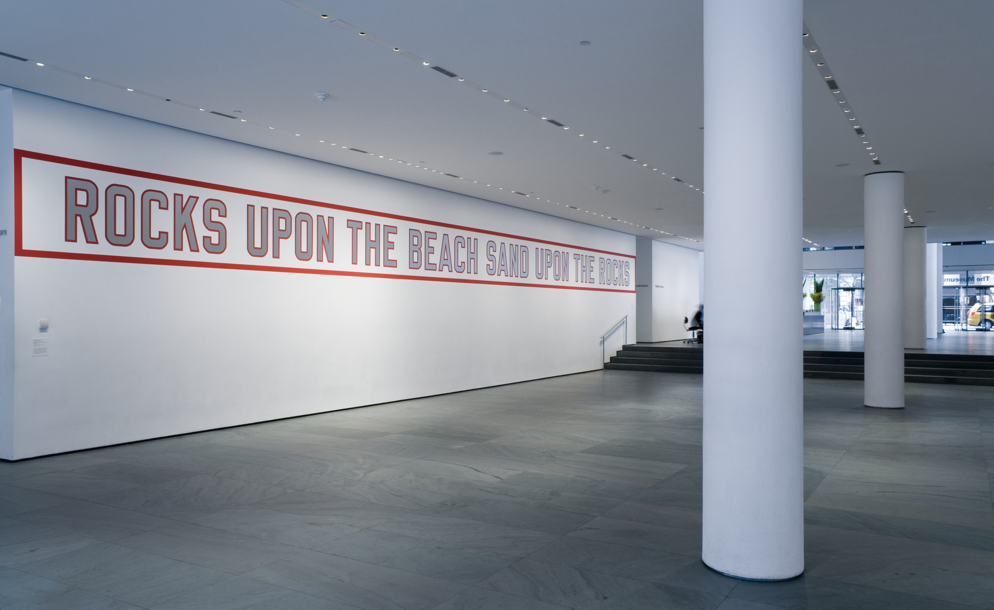 Lawrence Weiner. ROCKS UPON THE BEACH SAND UPON THE ROCKS. 1988