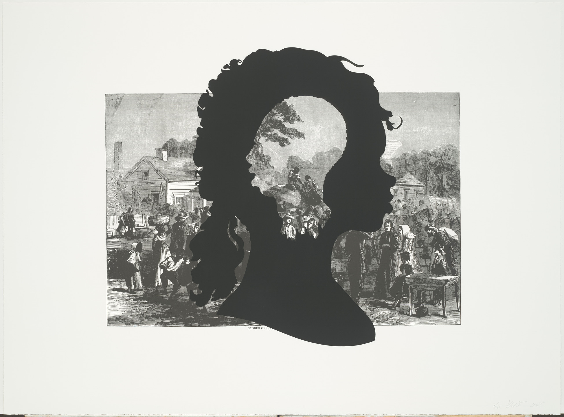 Kara Walker. Exodus of Confederates from Atlanta from Harper's Pictorial History of the Civil War (Annotated). 2005