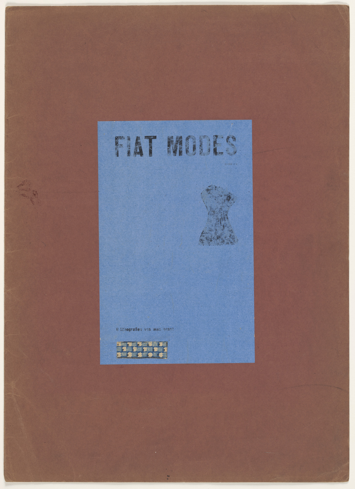 Max Ernst. Cover from Let There Be Fashion, Down with Art (Fiat modes pereat ars). 1920