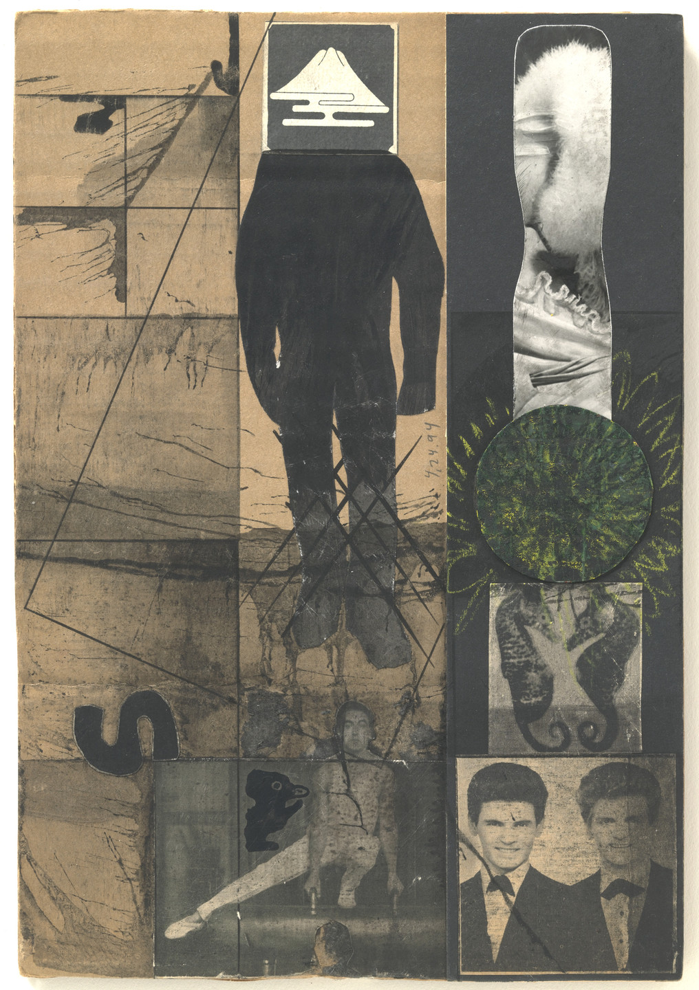 Ray Johnson. Untitled (Moticos with Everly Brothers). (1953/1994)