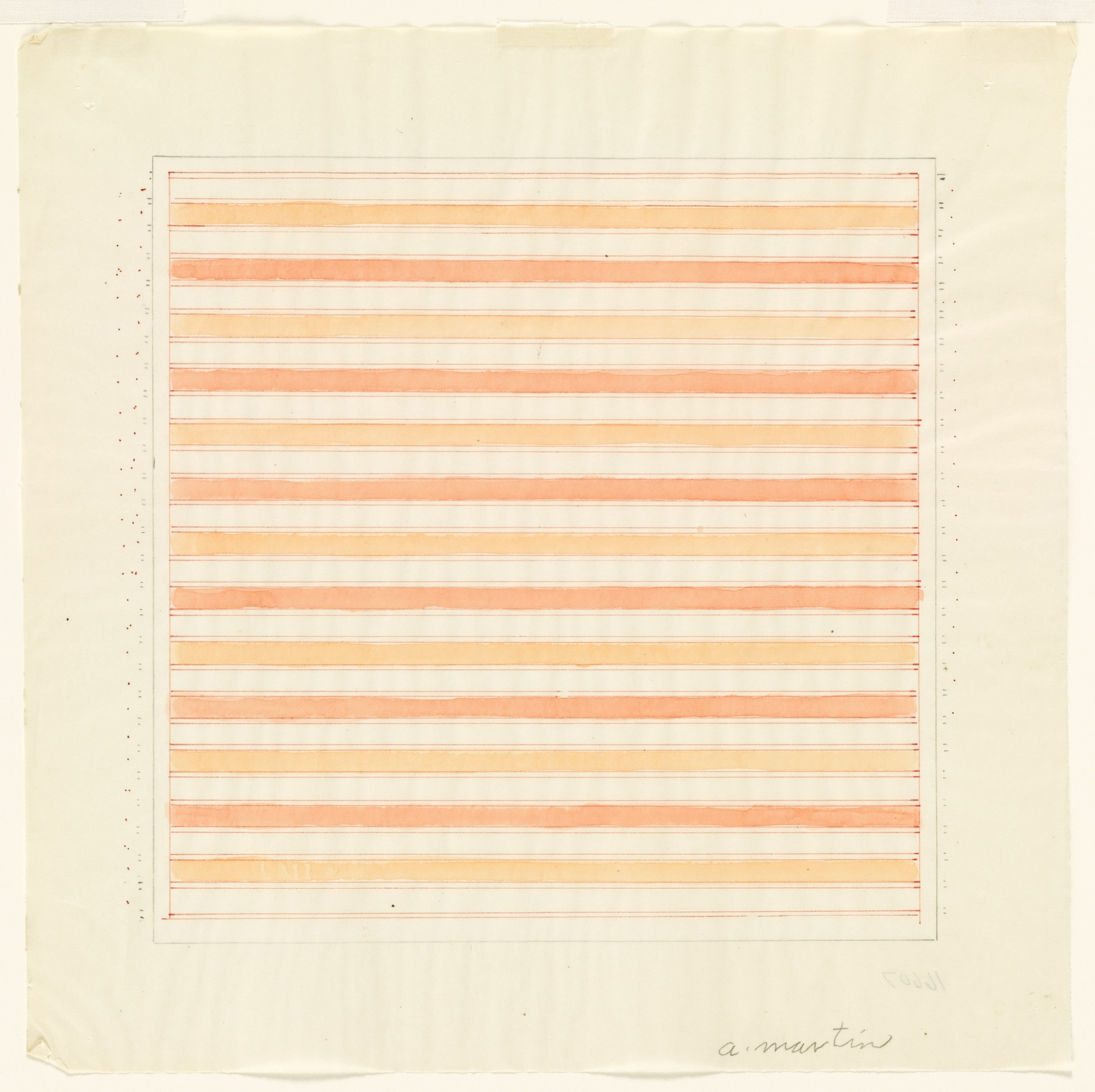 Agnes Martin. Untitled. 1978