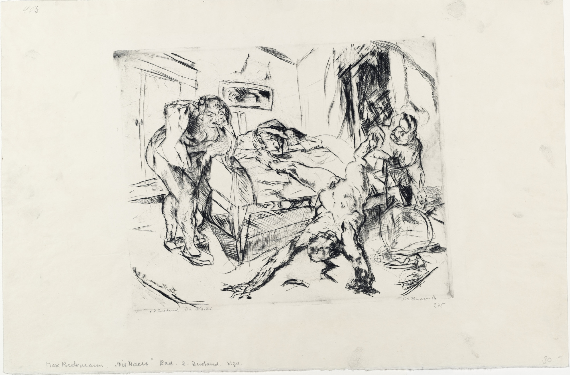 Max Beckmann. Night (Die Nacht). (1914), dated 1916, published 1918