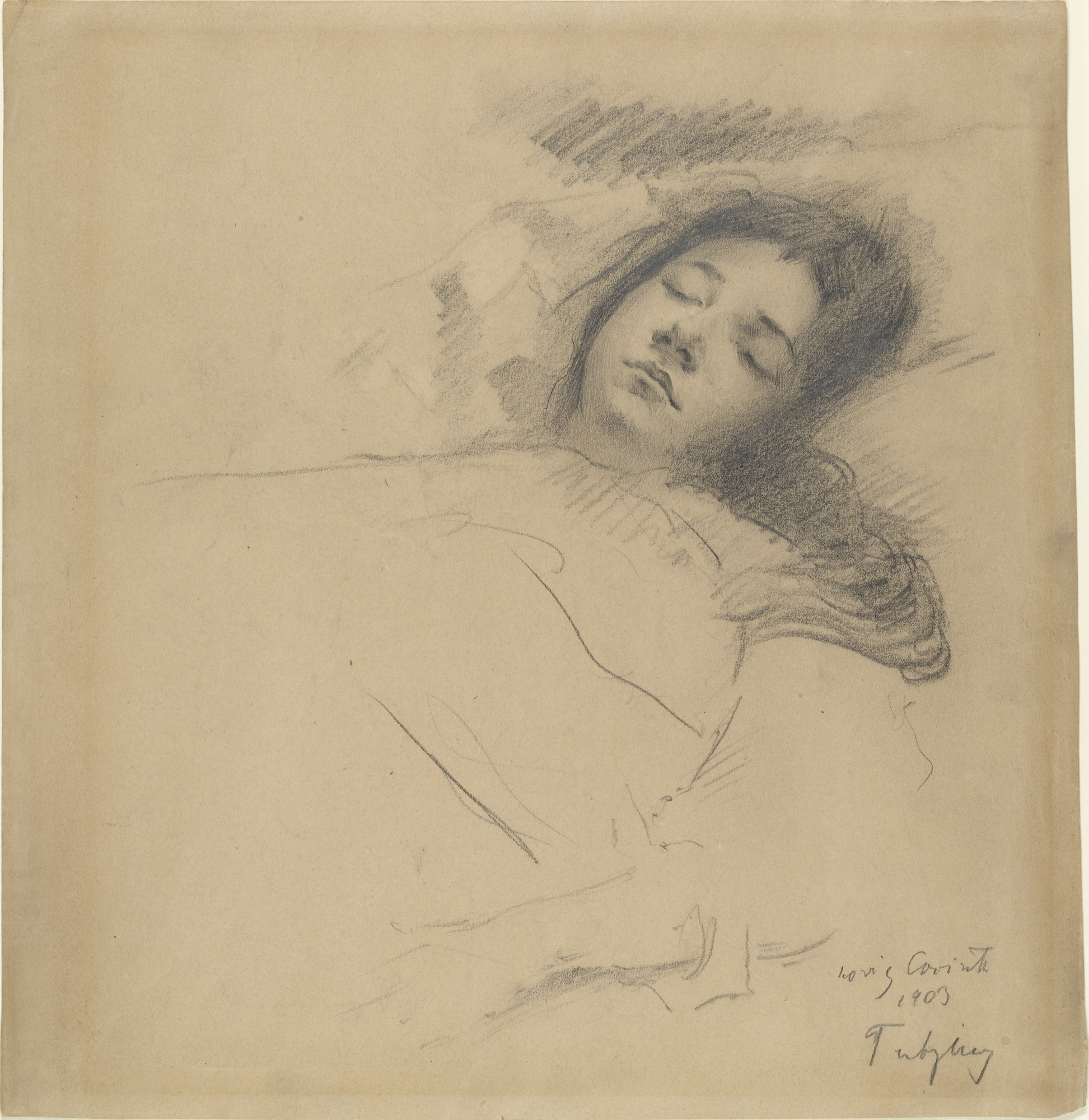 Lovis Corinth. The Artist's Wife Asleep. 1902–03