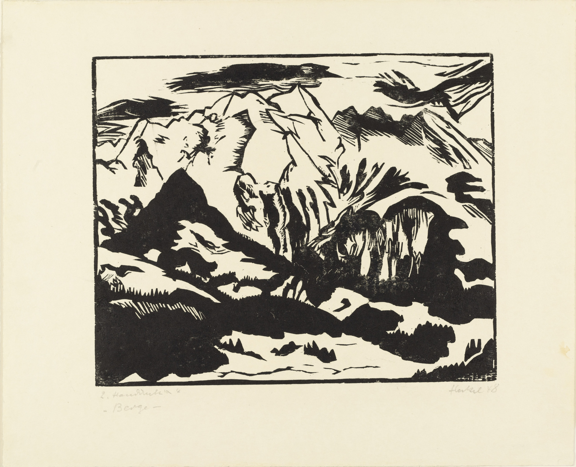 Erich Heckel. Mountains (Berge). 1948