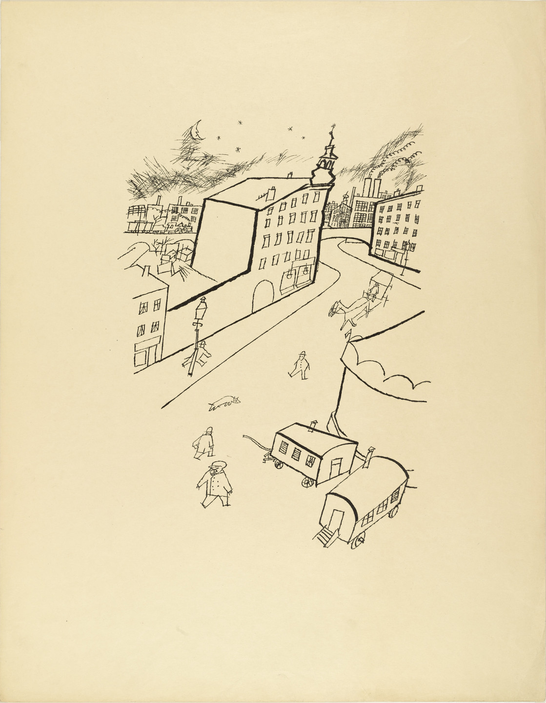 George Grosz. Outskirts (Peripherie) from The First George Grosz Portfolio (Erste George Grosz-Mappe). 1915–16, published 1916–17