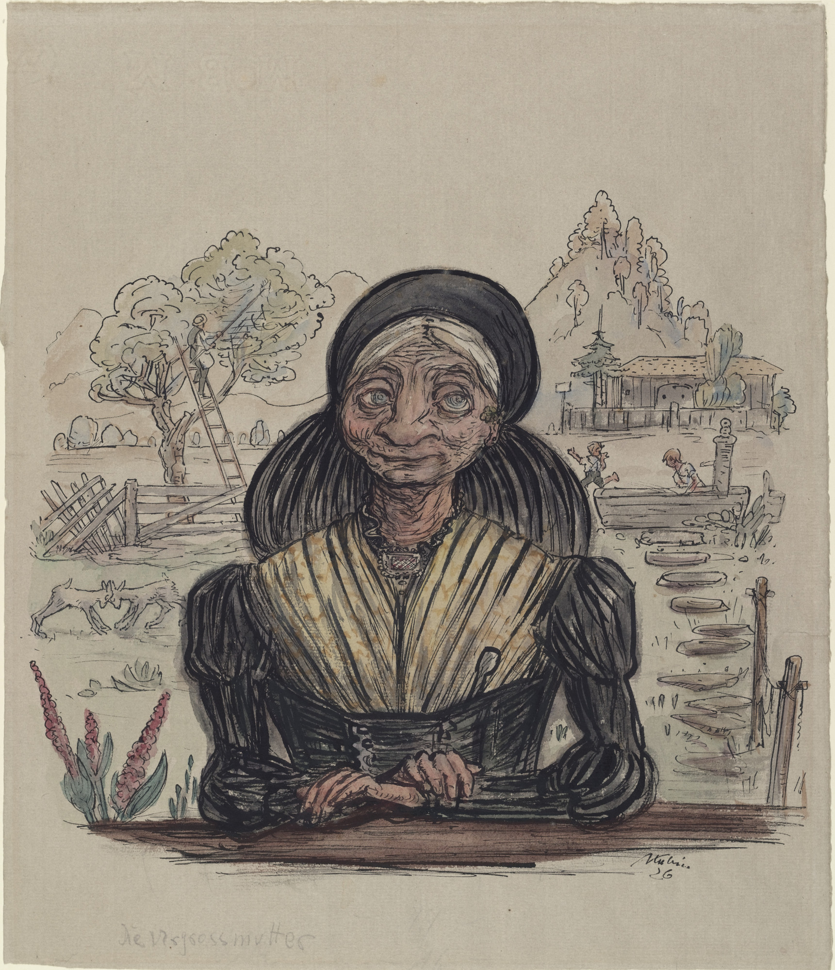 Alfred Kubin. The Great Grandmother (Die Urgrossmutter). 1926