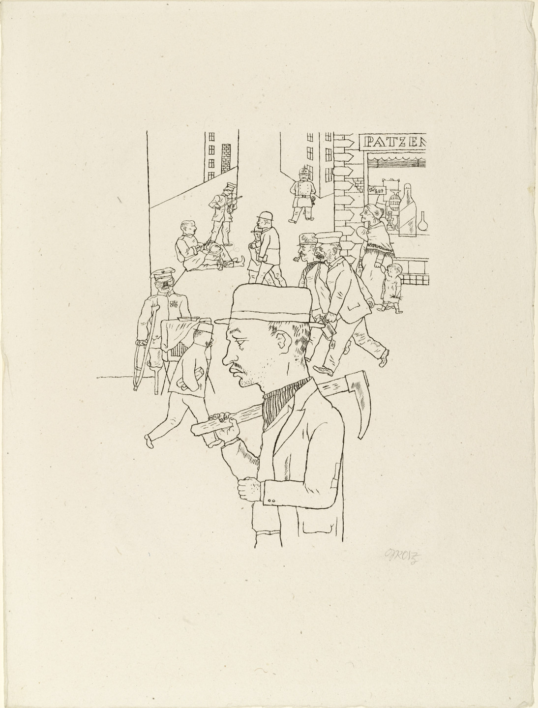 George Grosz. Pay Day from In the Shadows (Im Schatten). c. 1920, published 1921