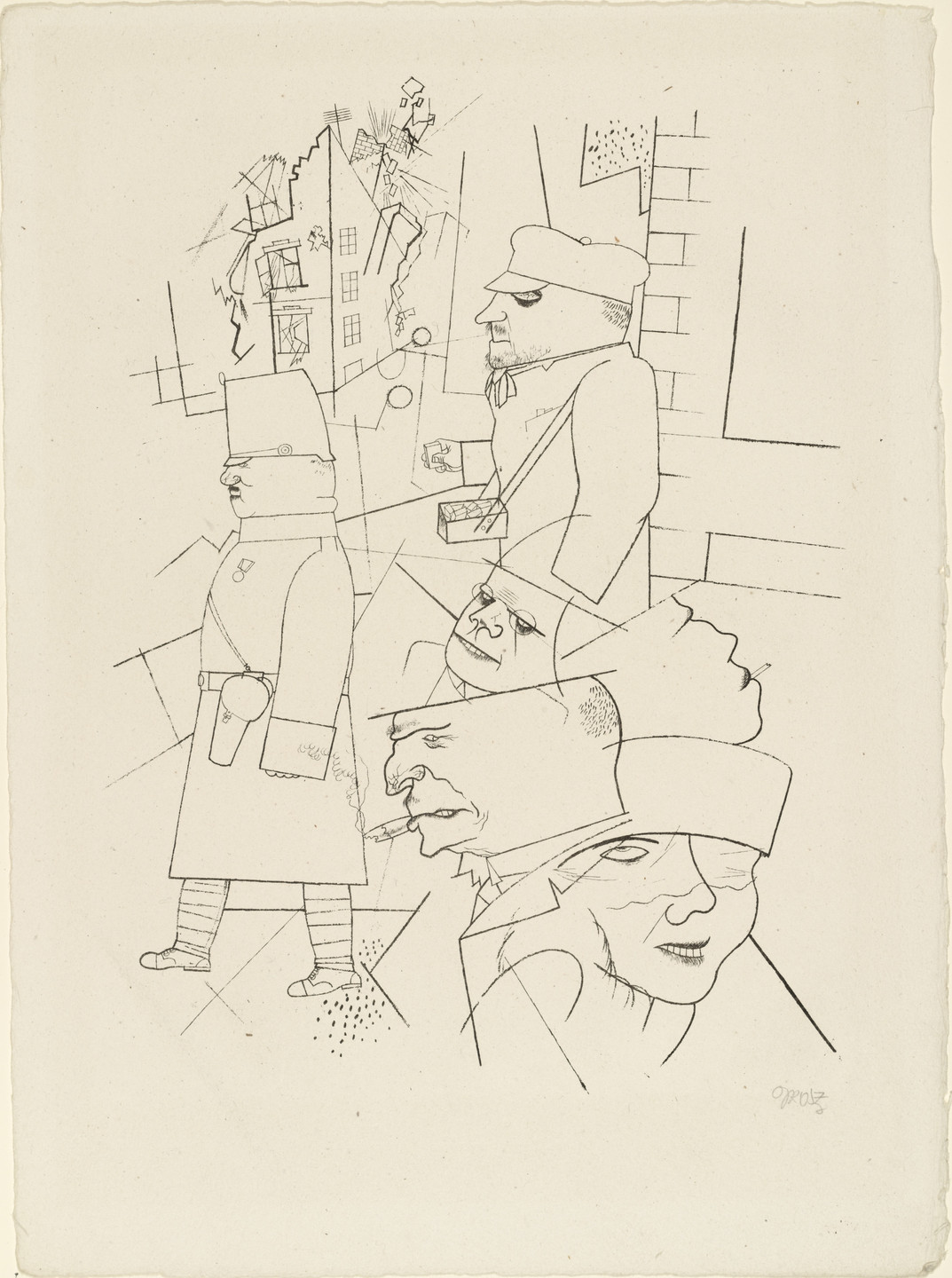 George Grosz. Dusk from In the Shadows (Im Schatten). c. 1920, published 1921