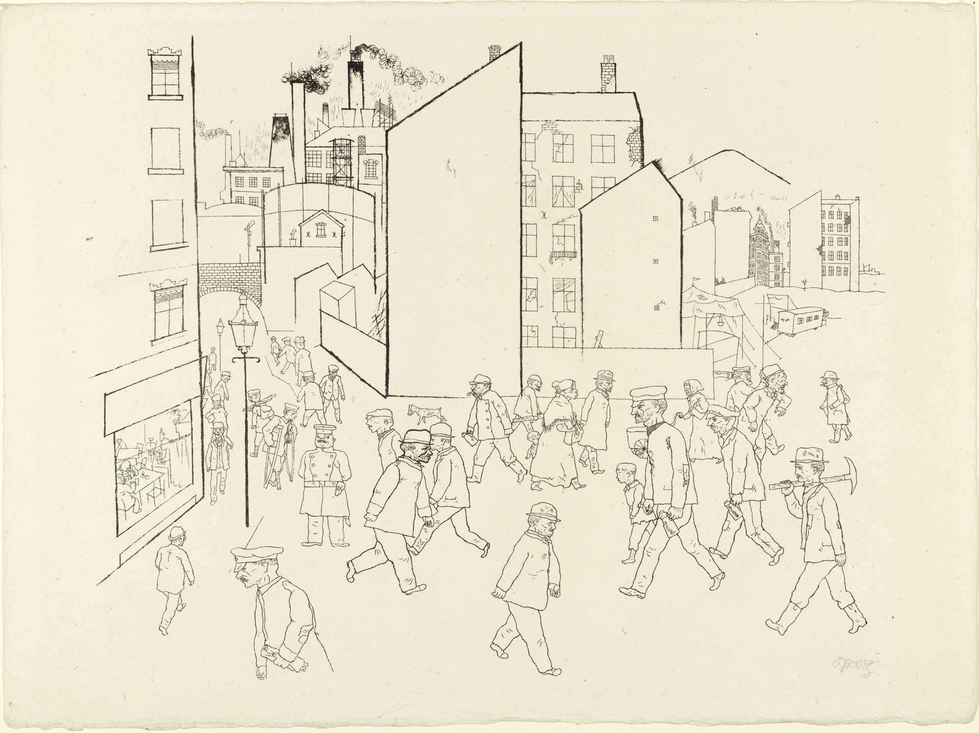 George Grosz. People in the Street from In the Shadows (Im Schatten). c. 1920, published 1921