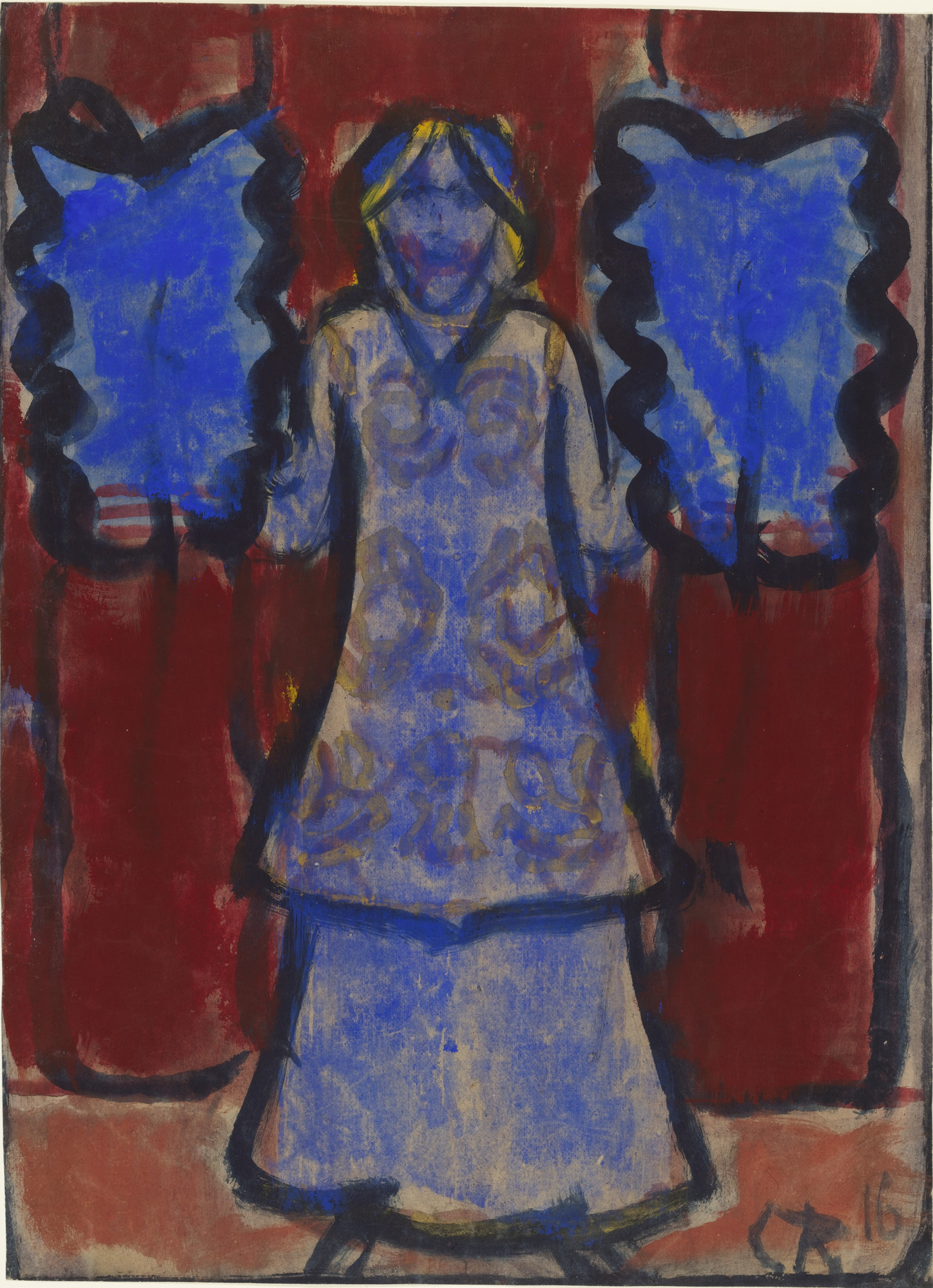 Christian Rohlfs. Blue Fan Dancer. 1916