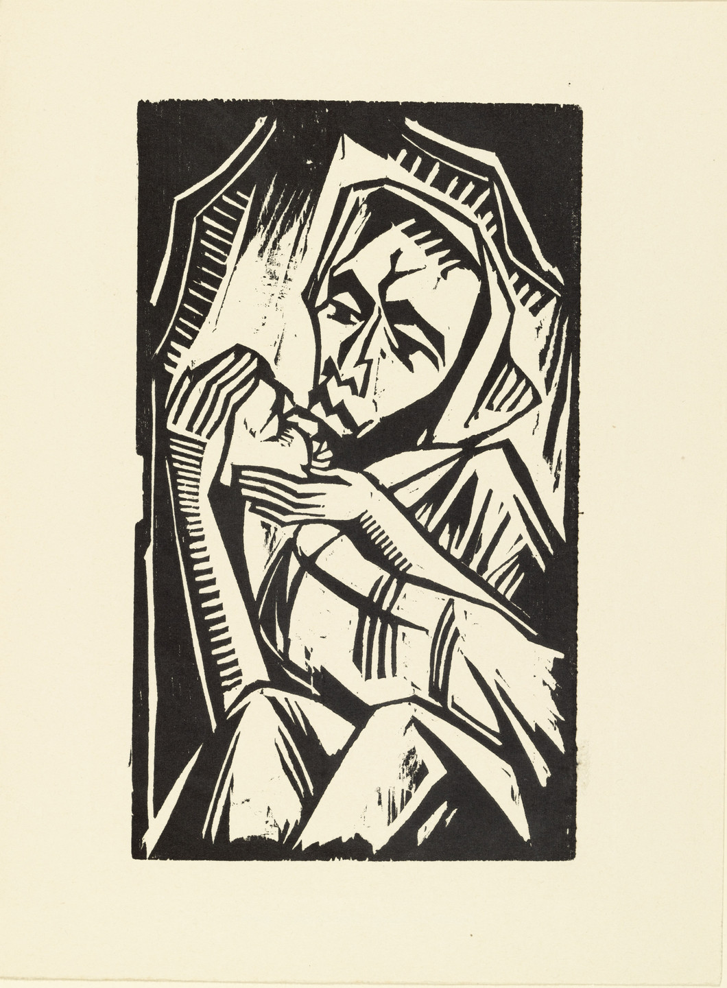 Max Pechstein. Mother (Mutter) (plate, loose leaf) from the periodical Das Kunstblatt, vol. 2, no. 6 (Jun 1918). 1918 (executed 1917)